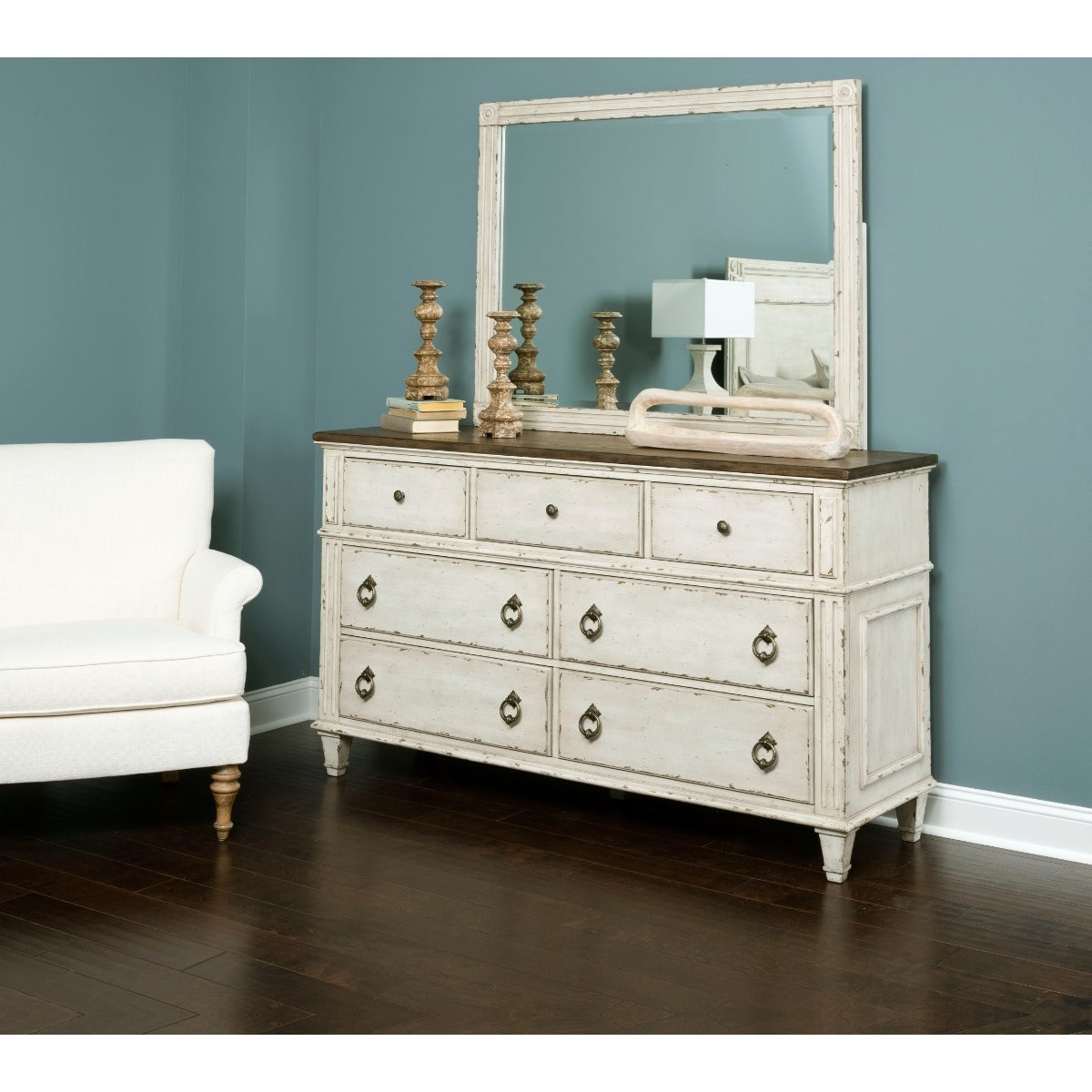 American drew southbury dresser with 7 soft close drawers adcock furniture dresser for Bedroom furniture soft close drawers
