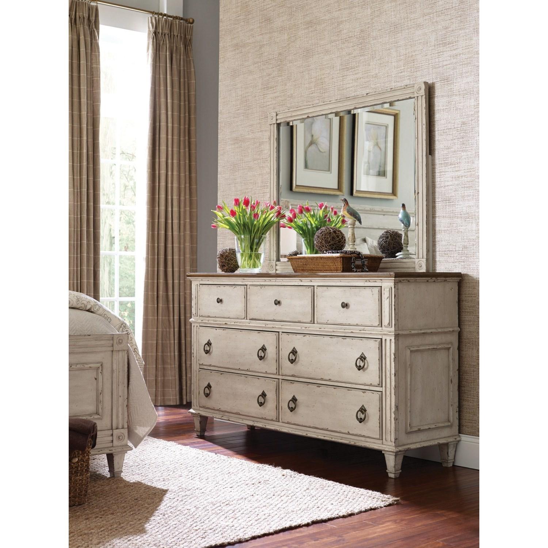 American drew southbury dresser with 7 soft close drawers jacksonville furniture mart dresser for Bedroom furniture soft close drawers