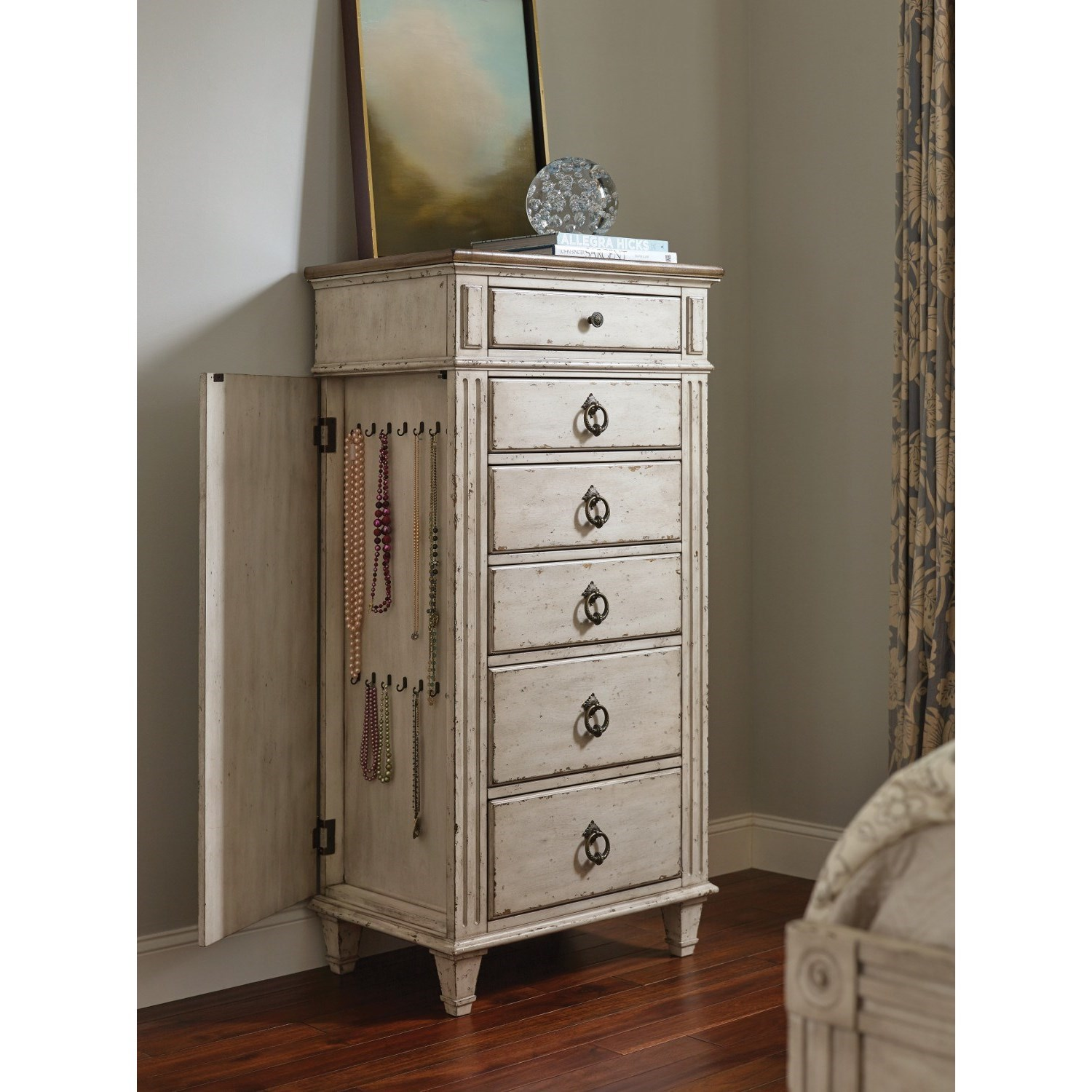 American drew southbury lingerie chest with 6 soft close drawers jacksonville furniture mart for Bedroom furniture soft close drawers