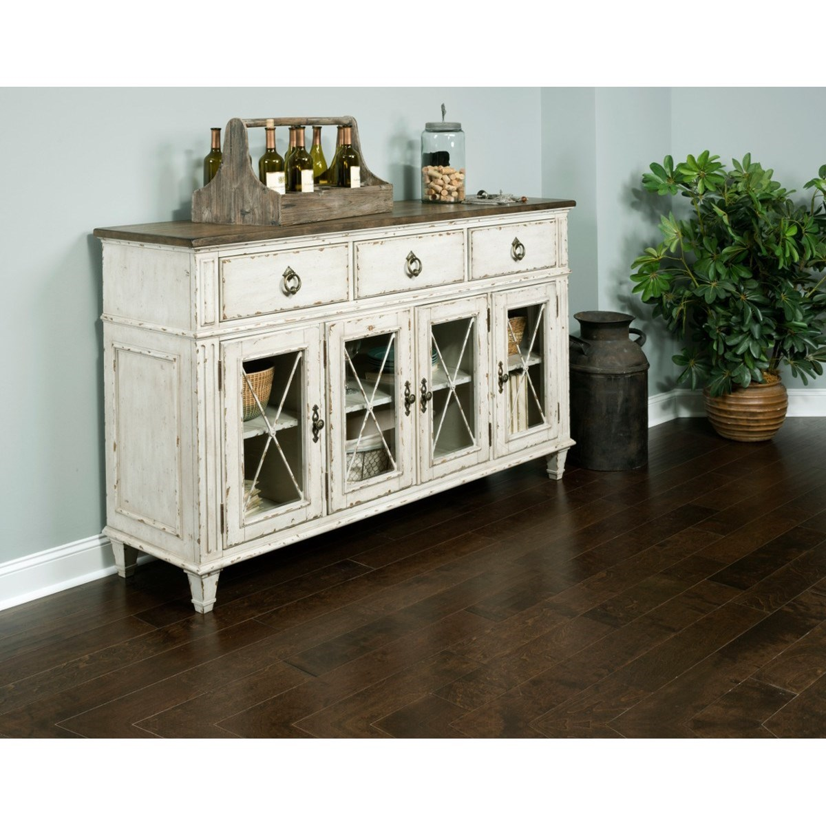 South gate sideboard with adjustable shelves morris home for Morris home