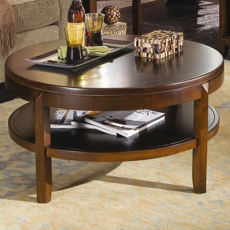 American Drew Tribecca 912 913 Round Cocktail Table Hudson 39 S Furniture Cocktail Coffee Tables