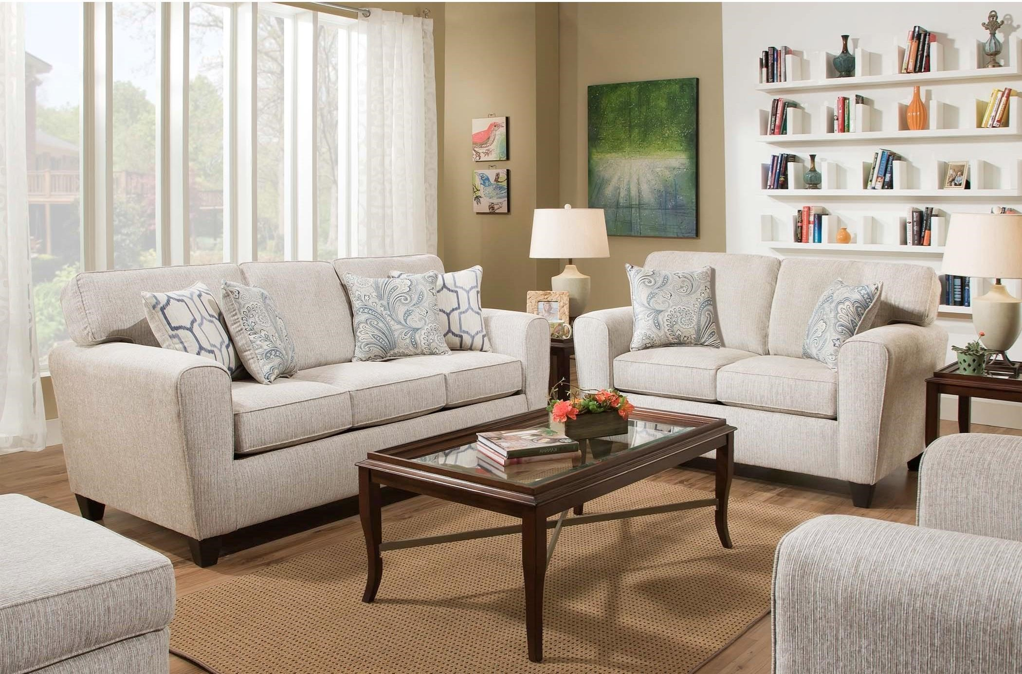American Furniture 3100 Living Room Group Miskelly Furniture Stationary Living Room Groups