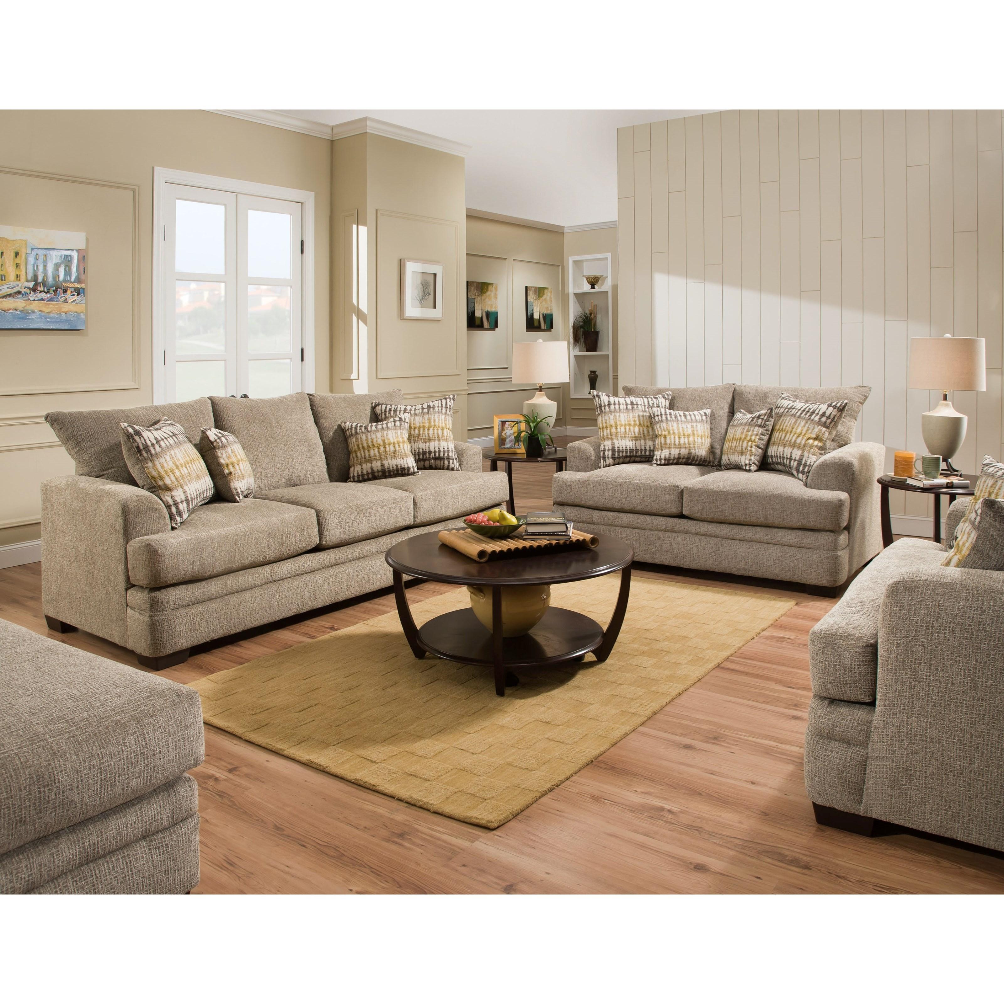 American Furniture 3650 Stationary Living Room Group Beck 39 S Furniture Stationary Living Room