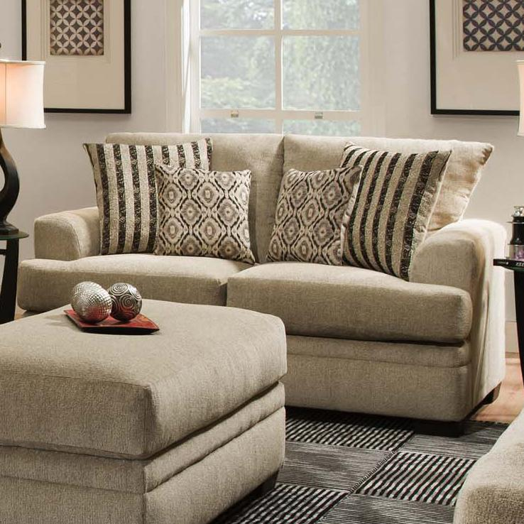 Casual Loveseat with 2 Seats 3650 by American Furniture