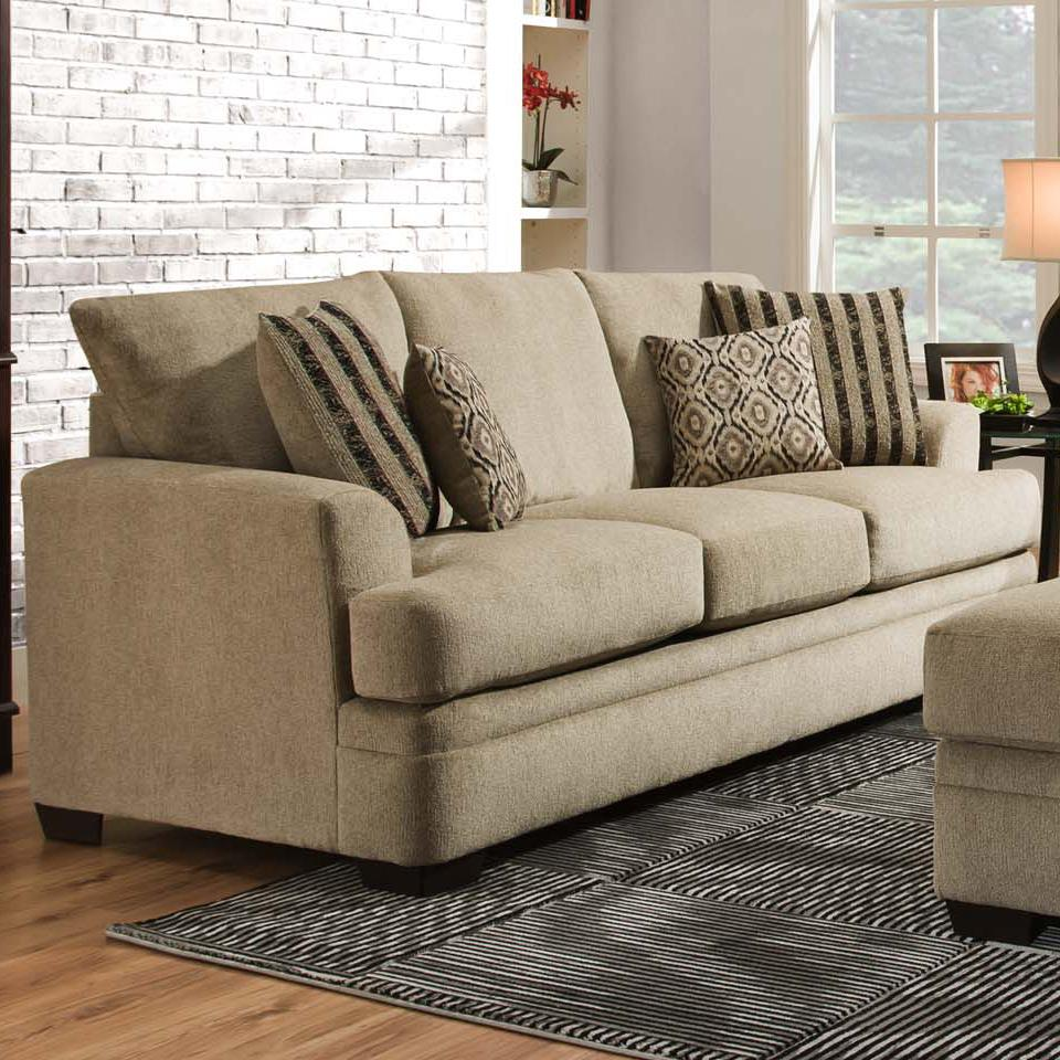 american furniture 3650 casual sofa with 3 seats royal With american home furniture couches