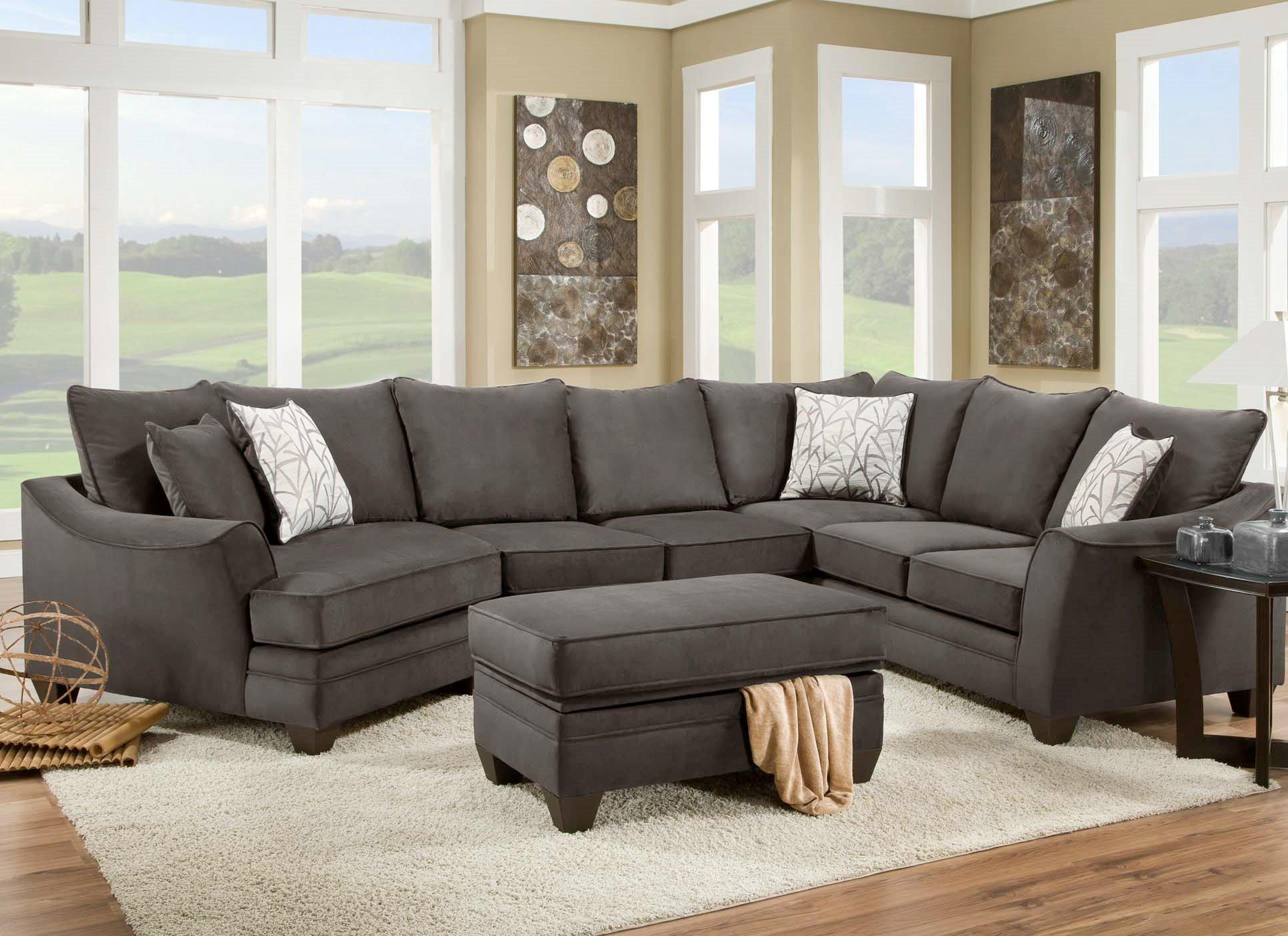 American furniture 3810 sectional sofa that seats 5 with for Furniture of america furniture