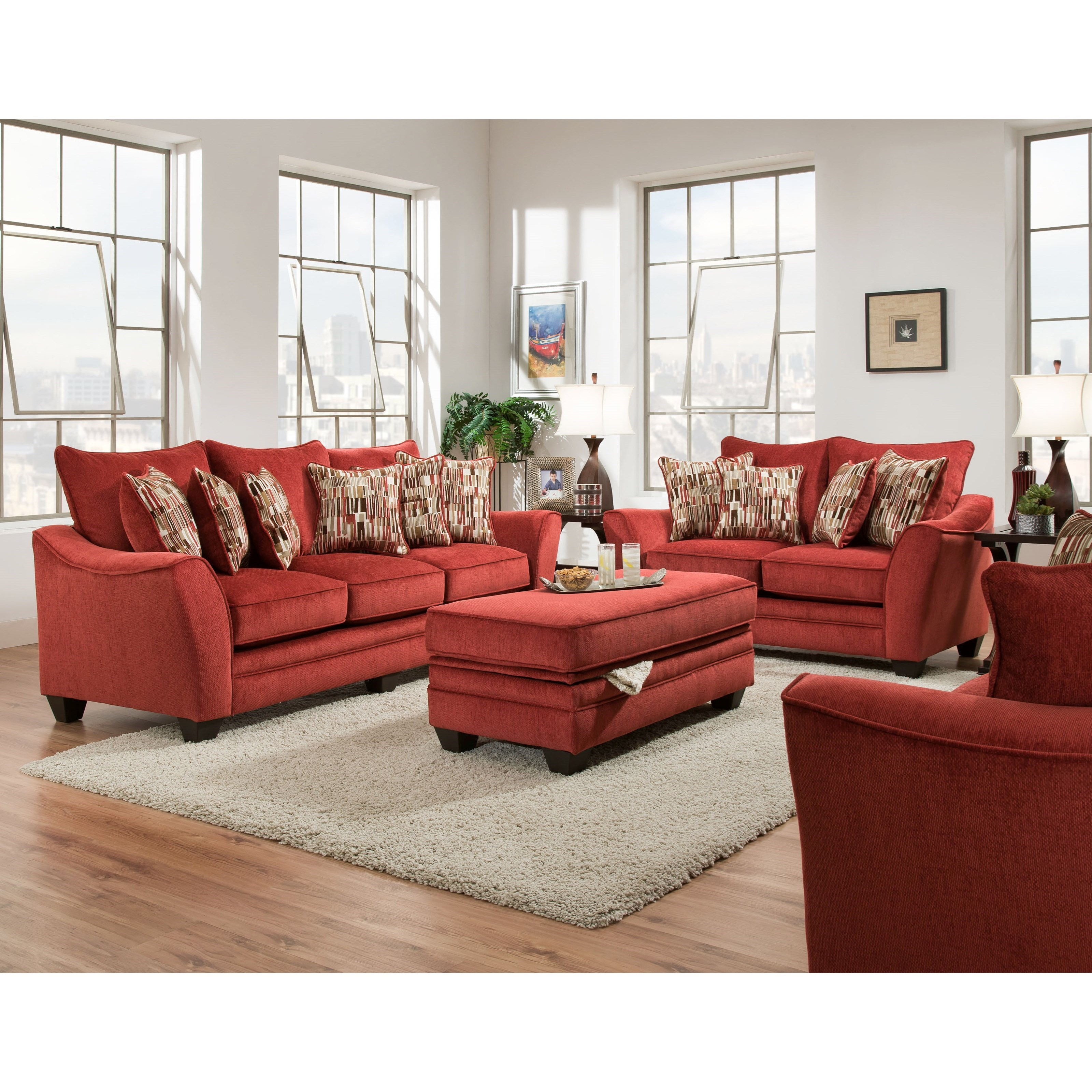 American Furniture 3850 Stationary Living Room Group Vandrie Home Furnishings Stationary