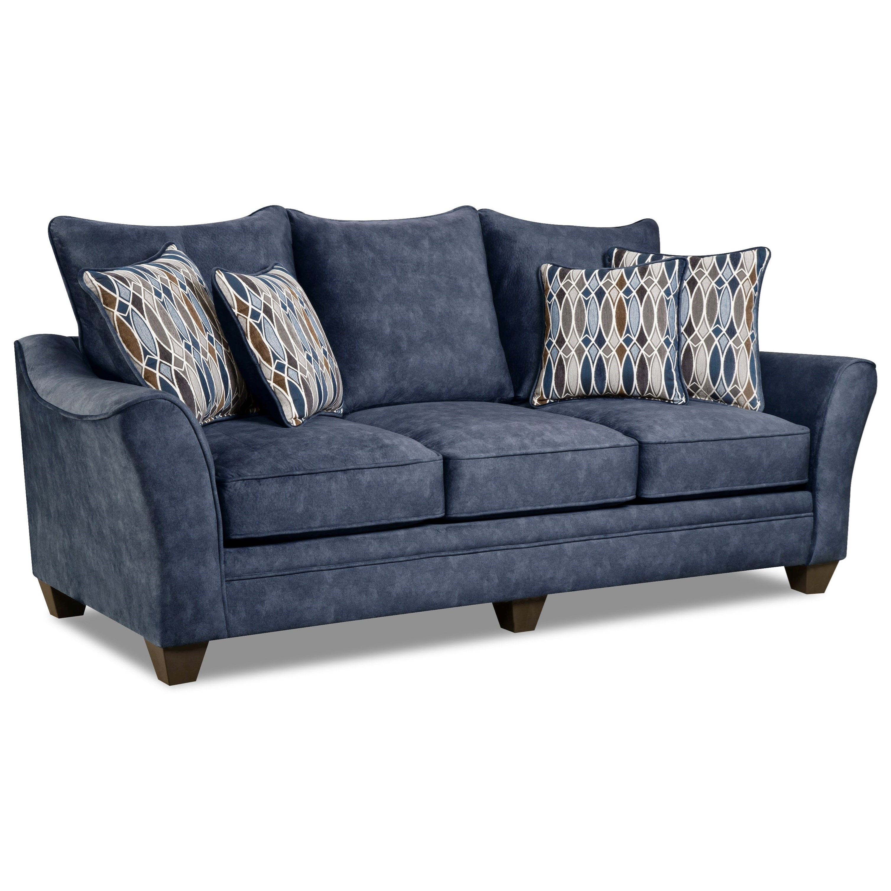 American furniture 3850 3853 athena navy elegant sofa with for American home furniture couches