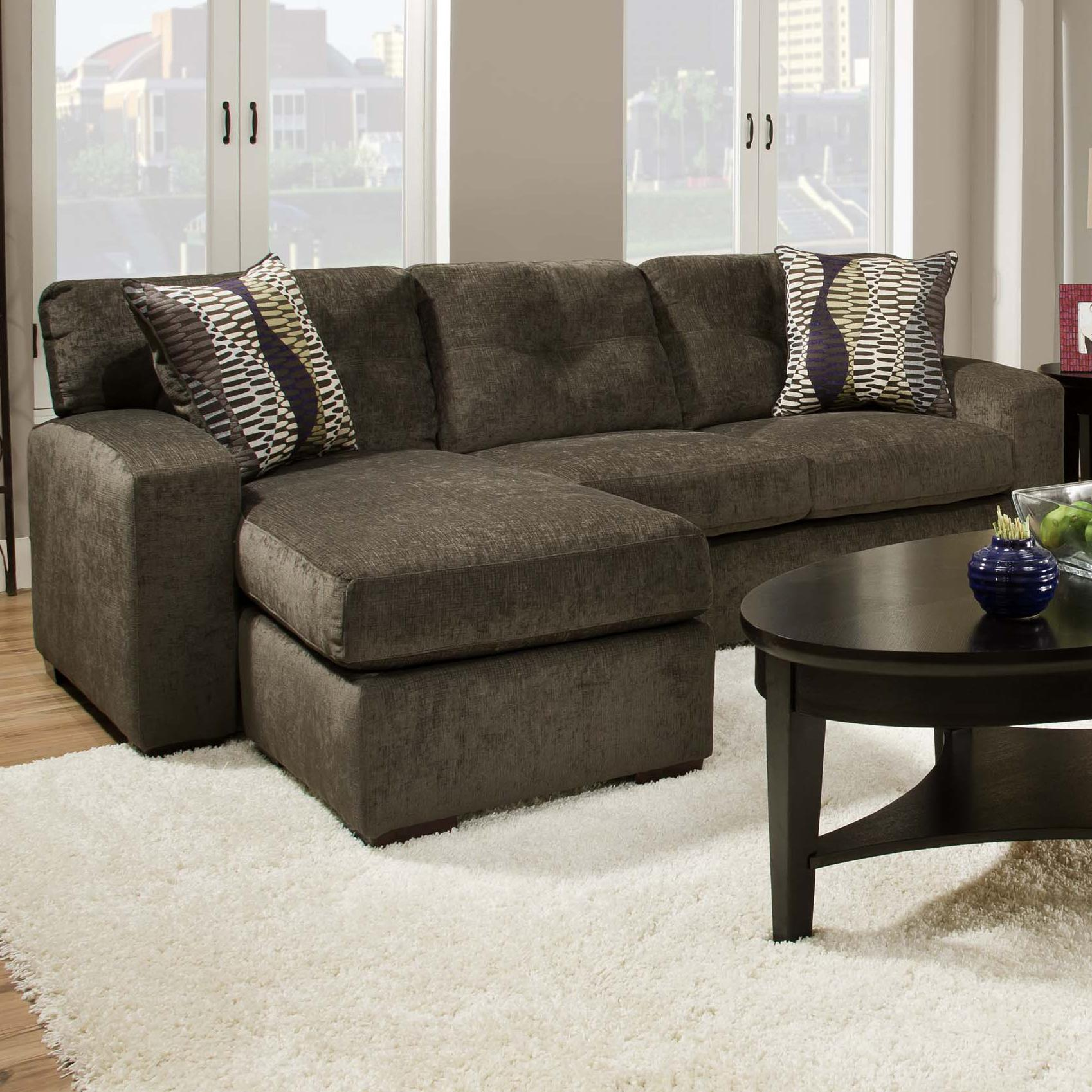 american furniture 5100 group small sectional sofa with chaise ottoman miskelly furniture sofa. Black Bedroom Furniture Sets. Home Design Ideas