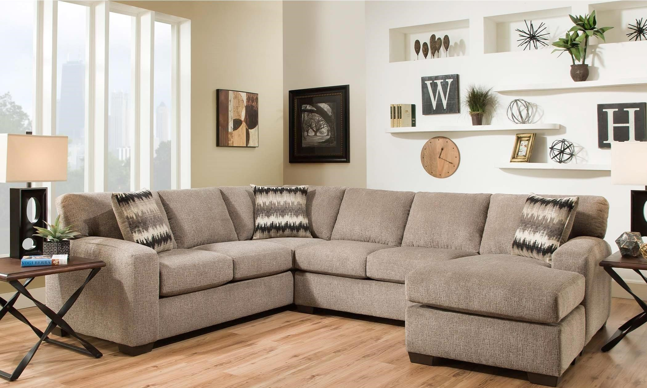 American Furniture 5250 Sectional Sofa Seats 5 Miskelly Furniture Sectional Sofas