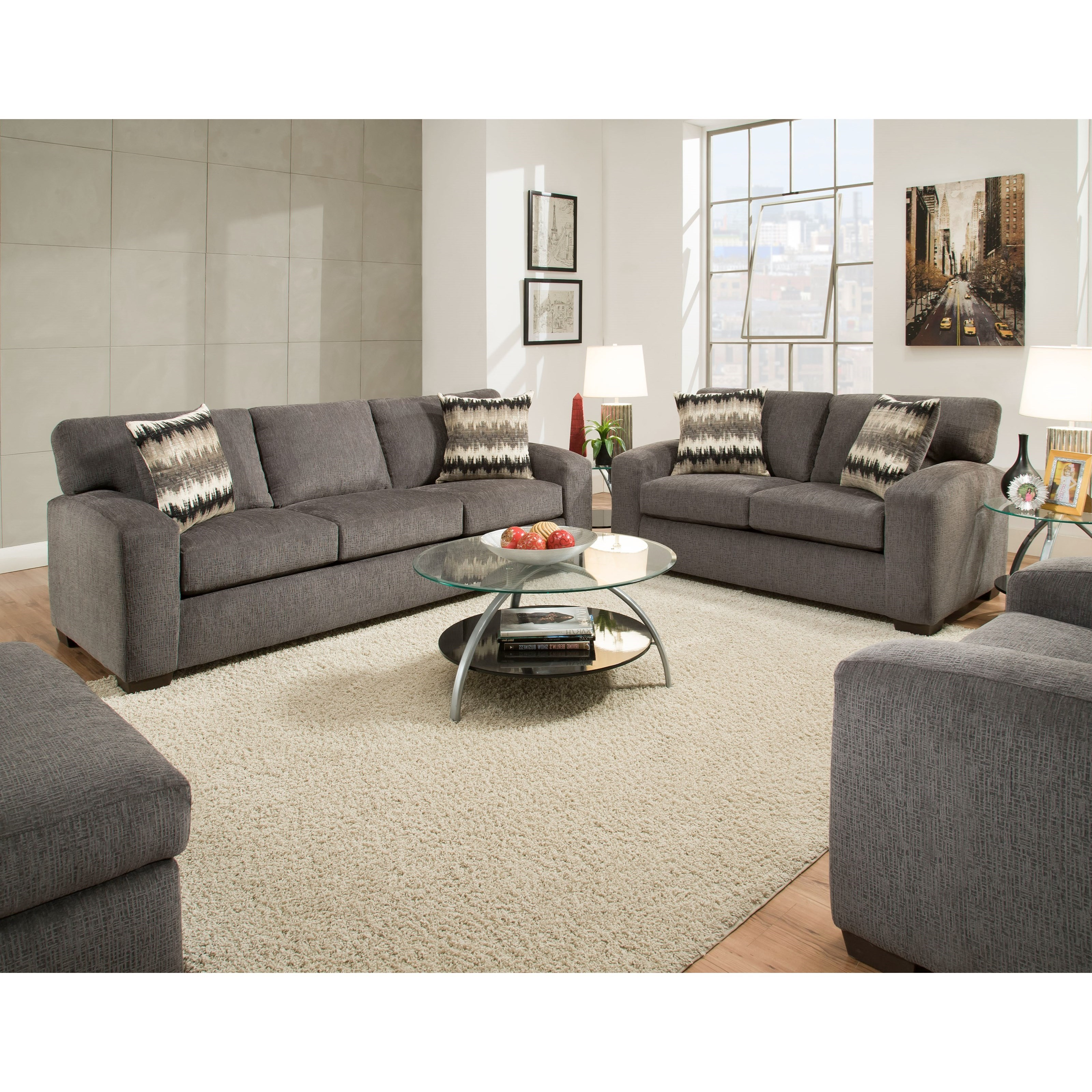 American furniture 5250 living room group vandrie home for Living room furniture groups