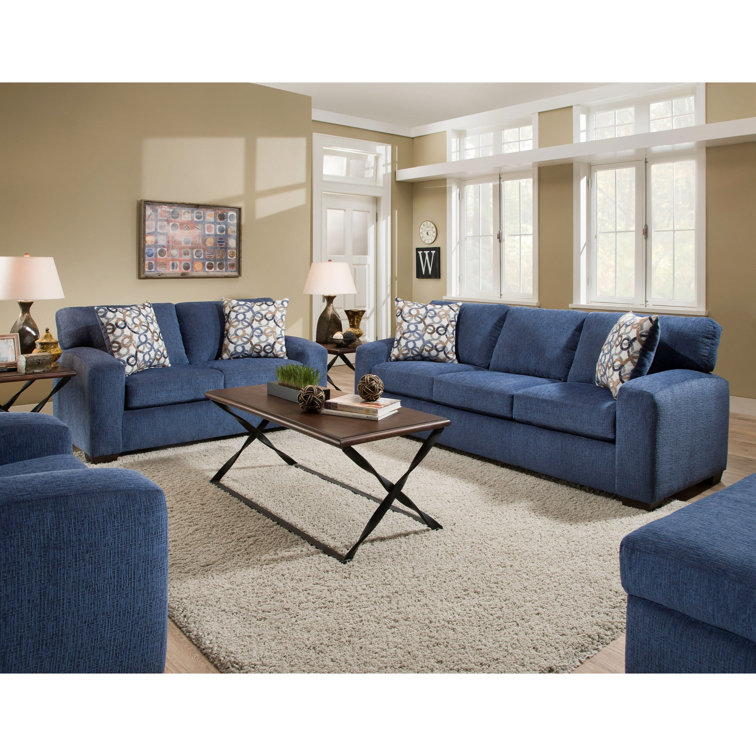 American Furniture 5250 Living Room Group Miskelly Furniture Stationary Living Room Groups