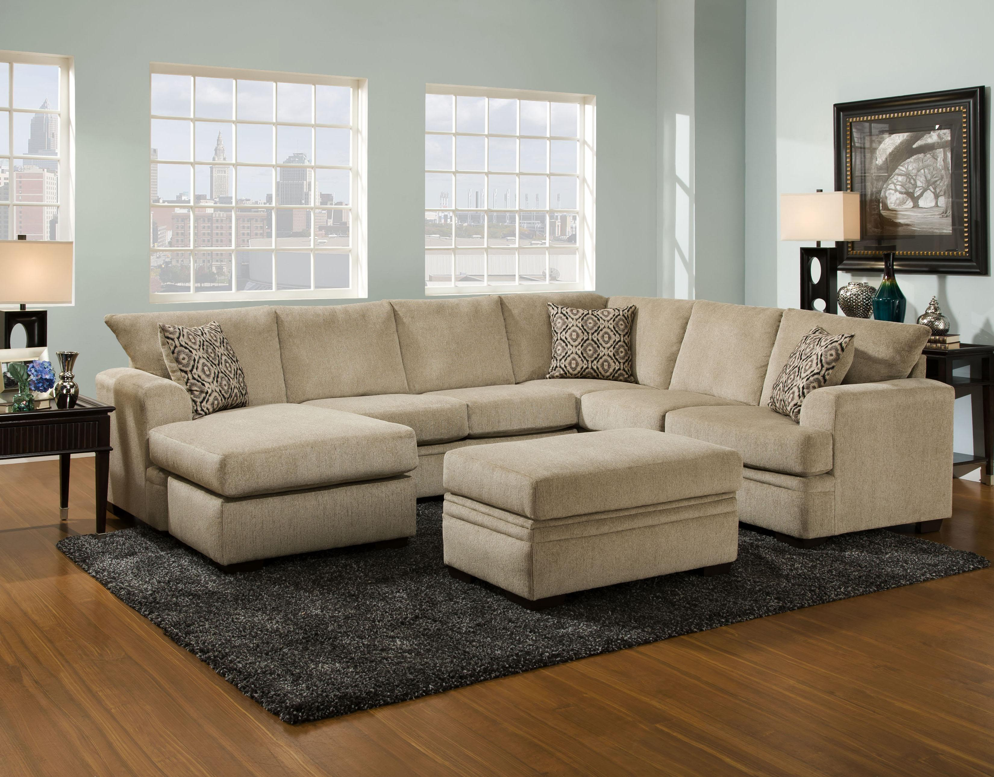 American furniture 6800 sectional sofa with left side for Furnish decorador de interiores