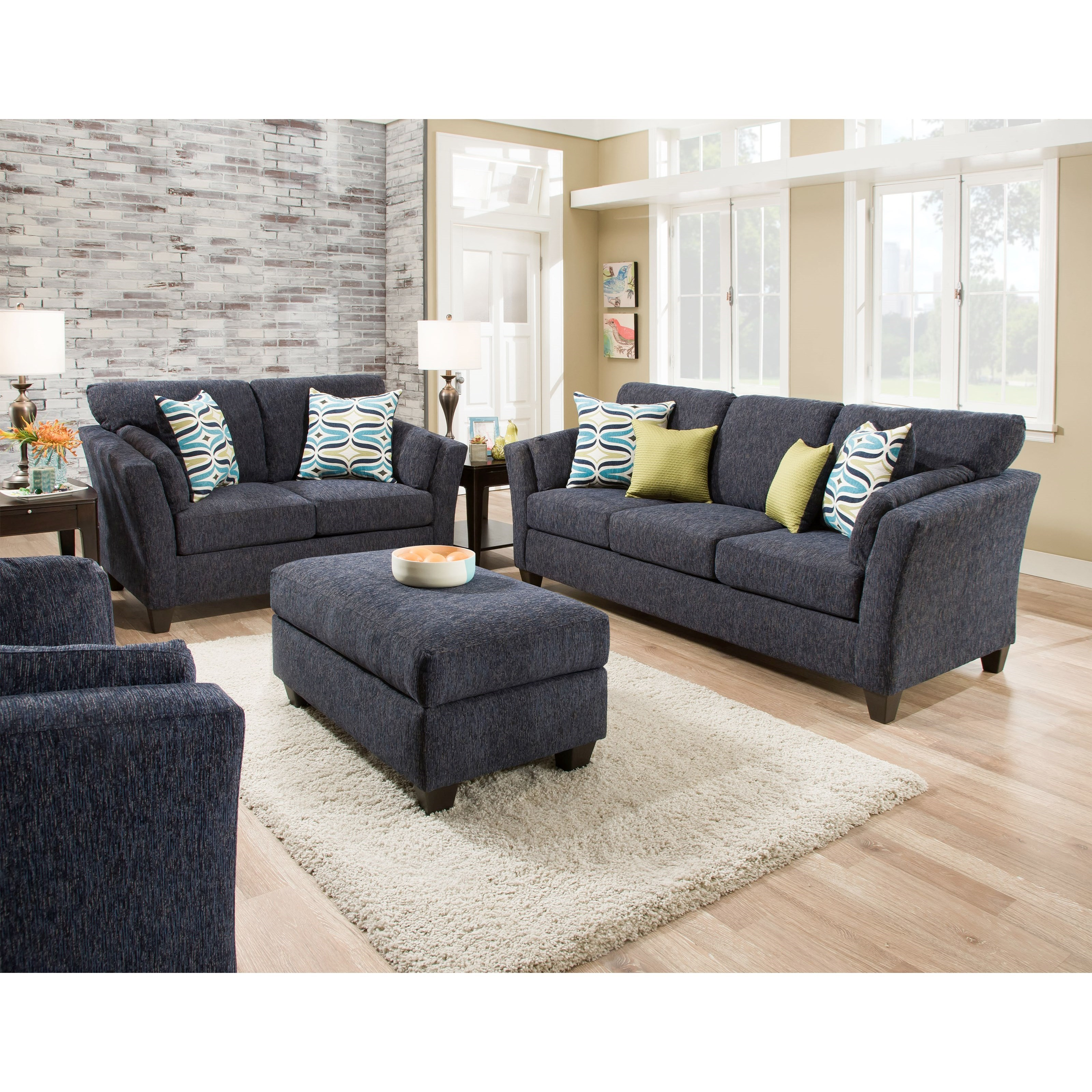 American Furniture 7300 Living Room Group Miskelly Furniture Stationary Living Room Groups