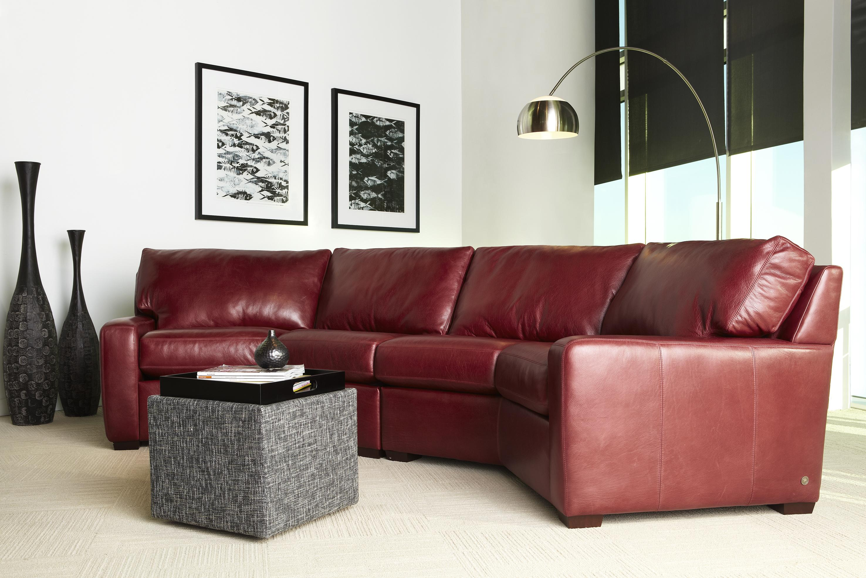 American Leather Living Room Carson Sectional