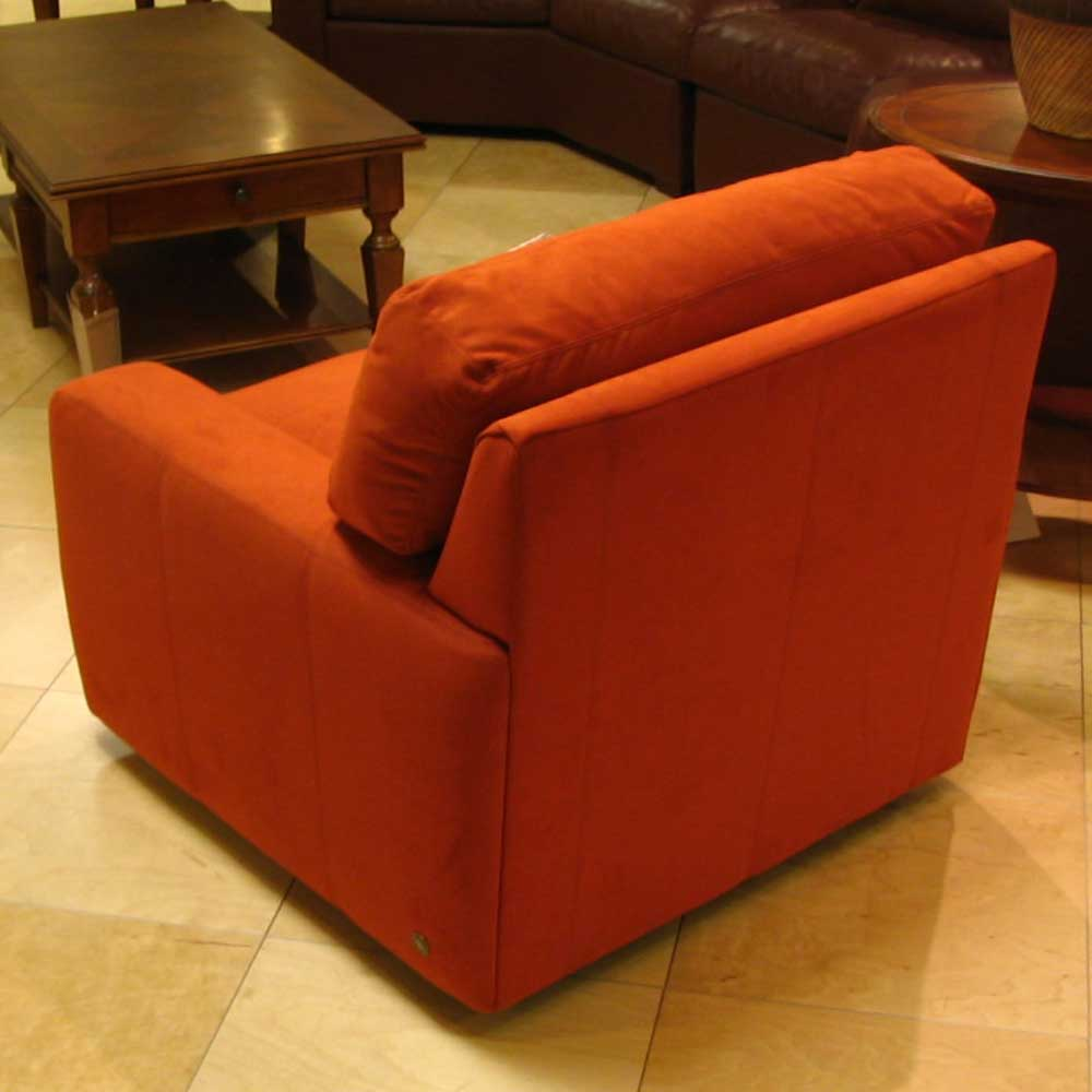 American Leather Carson Ultrasuede Chair Jacksonville