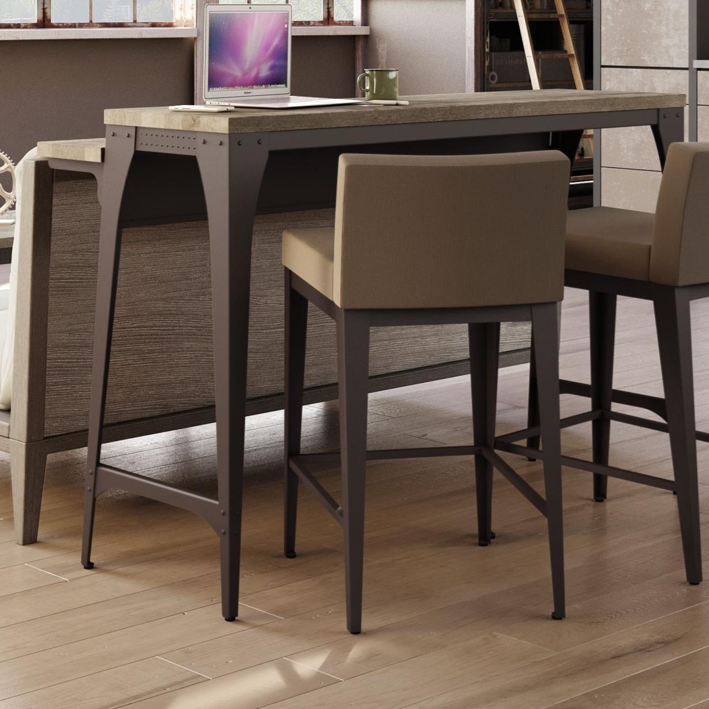 Amisco industrial customizable elwood living room island for Table 52 menu