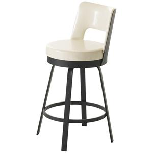 amisco stools ronny contemporary swivel bar stool colder 39 s furniture and appliance bar stools. Black Bedroom Furniture Sets. Home Design Ideas