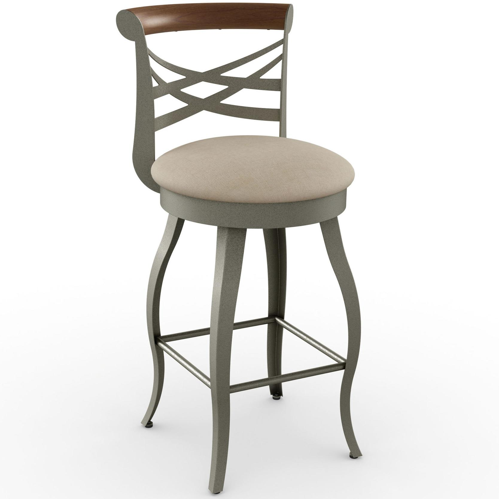 amisco stools 41512 30 transitional whisky bar stool with bowed legs dunk bright furniture. Black Bedroom Furniture Sets. Home Design Ideas