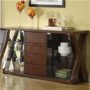 Apa by whalen xenia self storing leaf table for Sideboard xenia