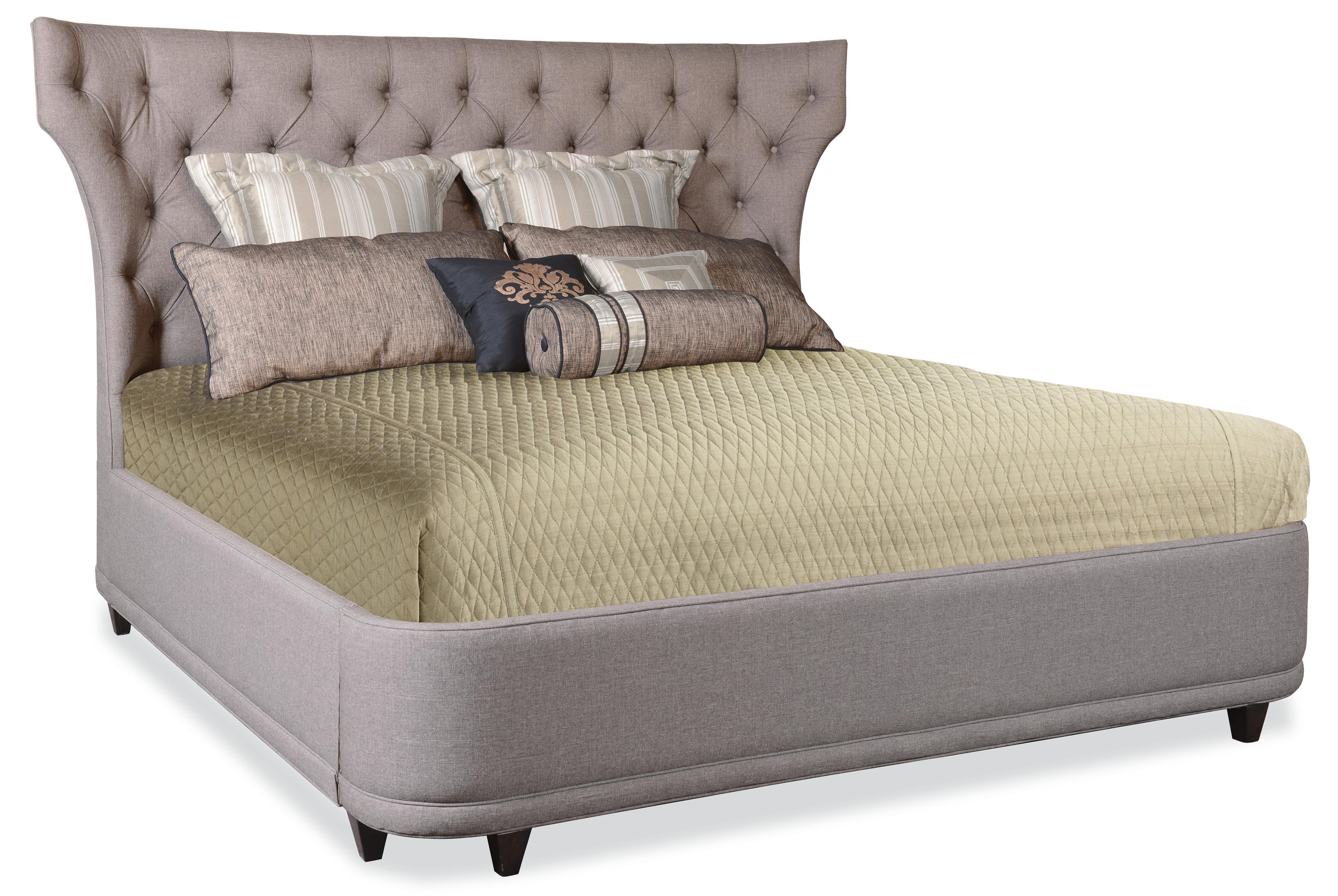 bed with curved upholstered headboard baer 39 s furniture upholstered