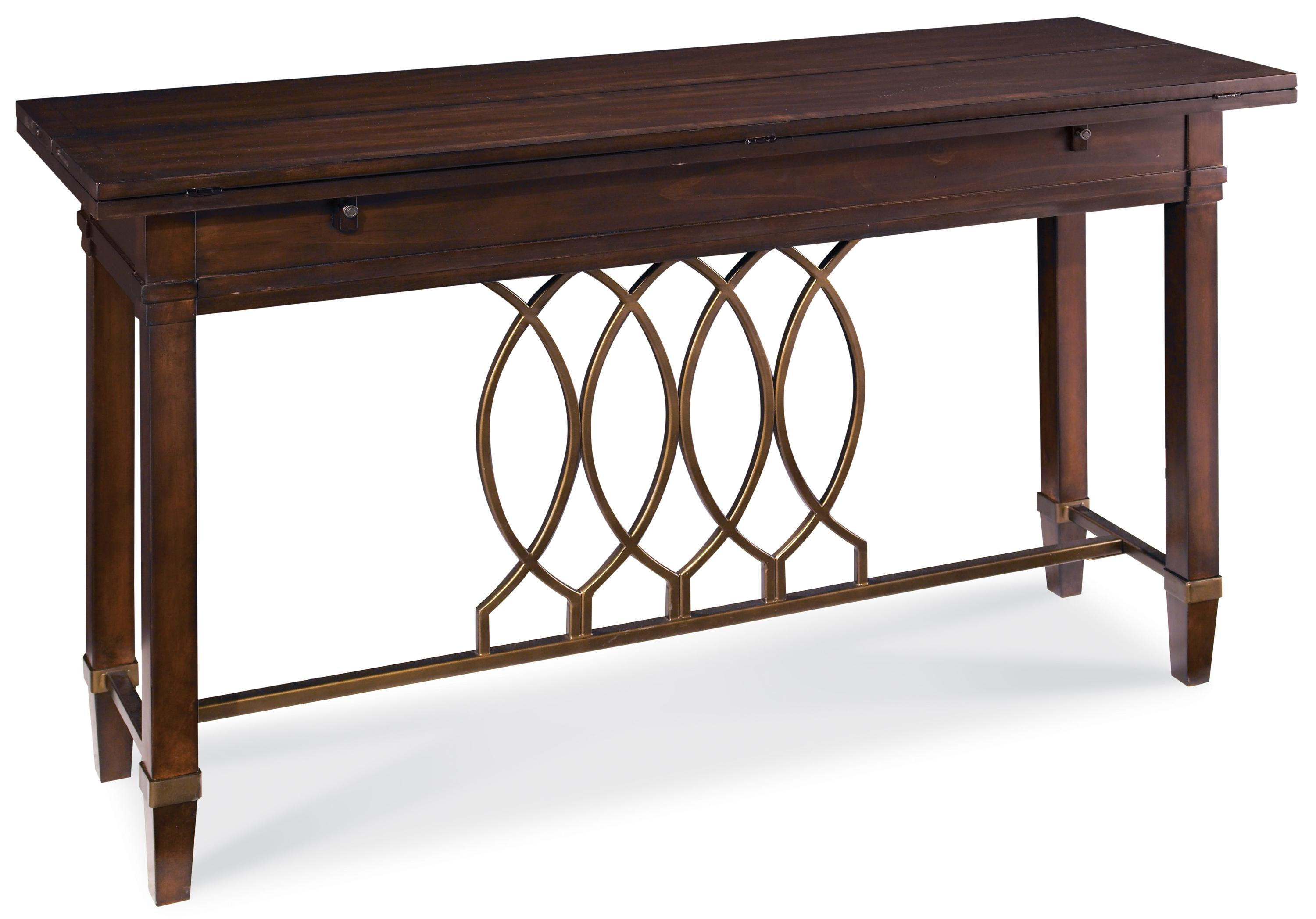 A r t furniture inc intrigue flip top sofa table with for Sofa table rules