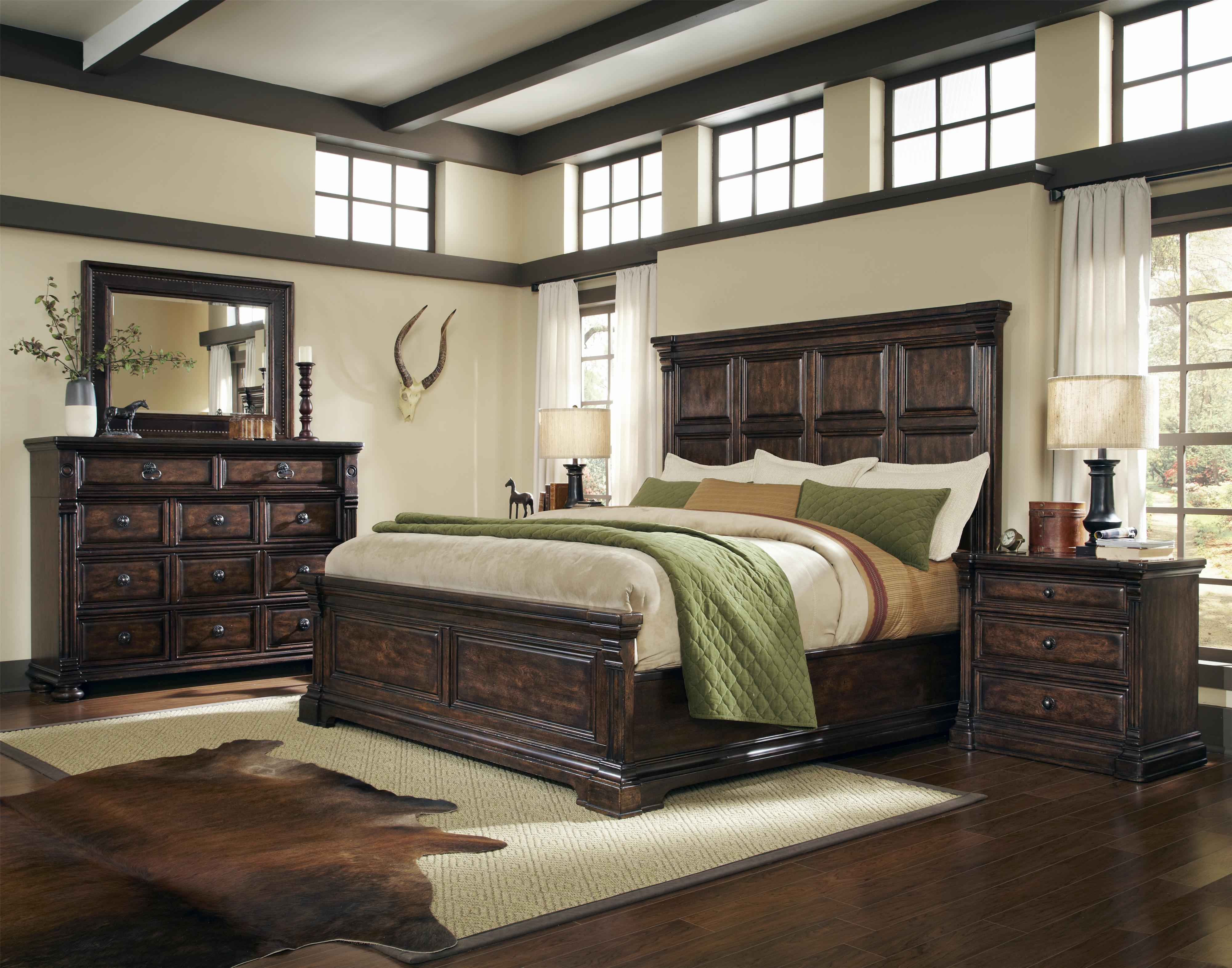 Whiskey Oak King Bedroom Group by A R T Furniture Inc