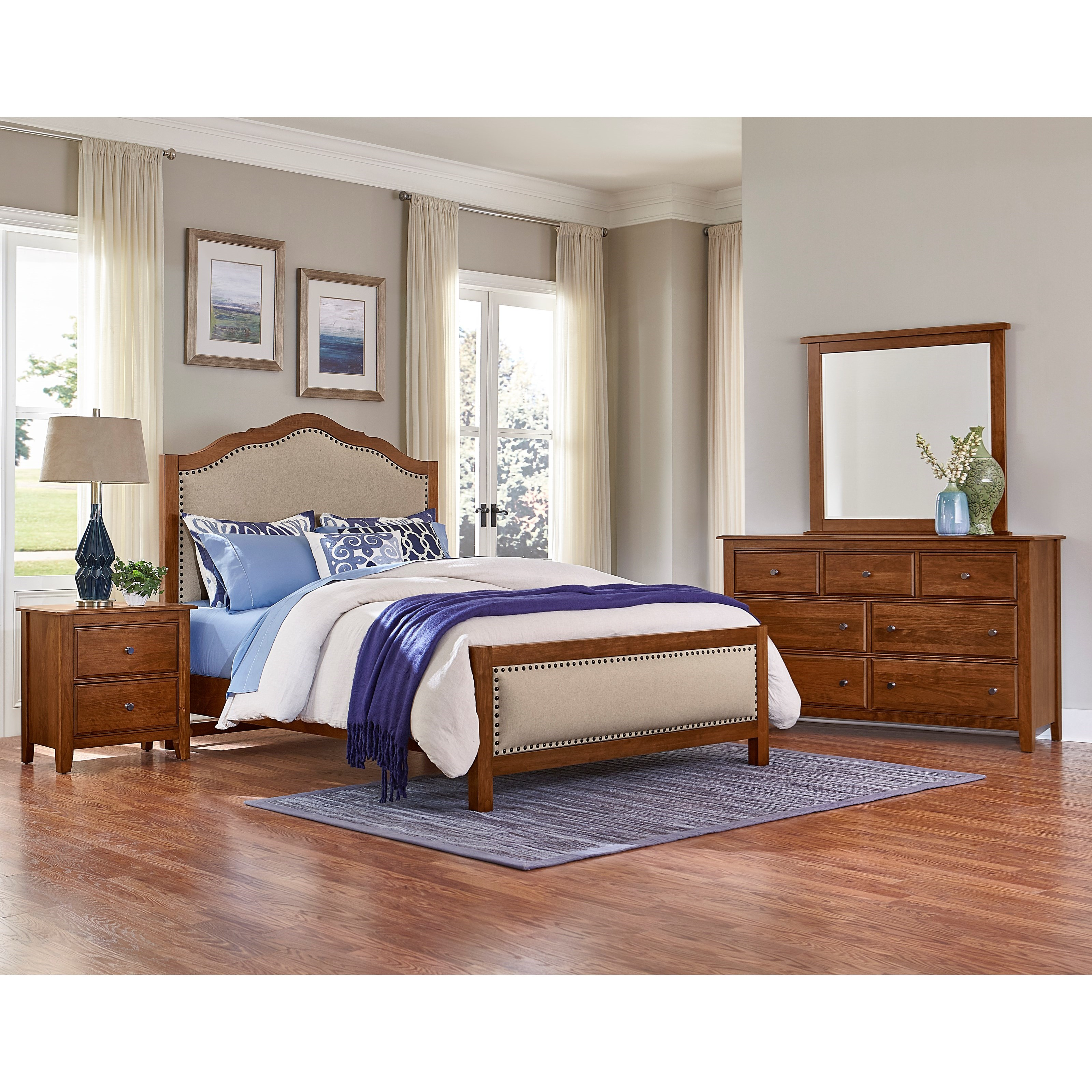 Artisan post artisan choices queen bedroom group for Bedroom furniture groups