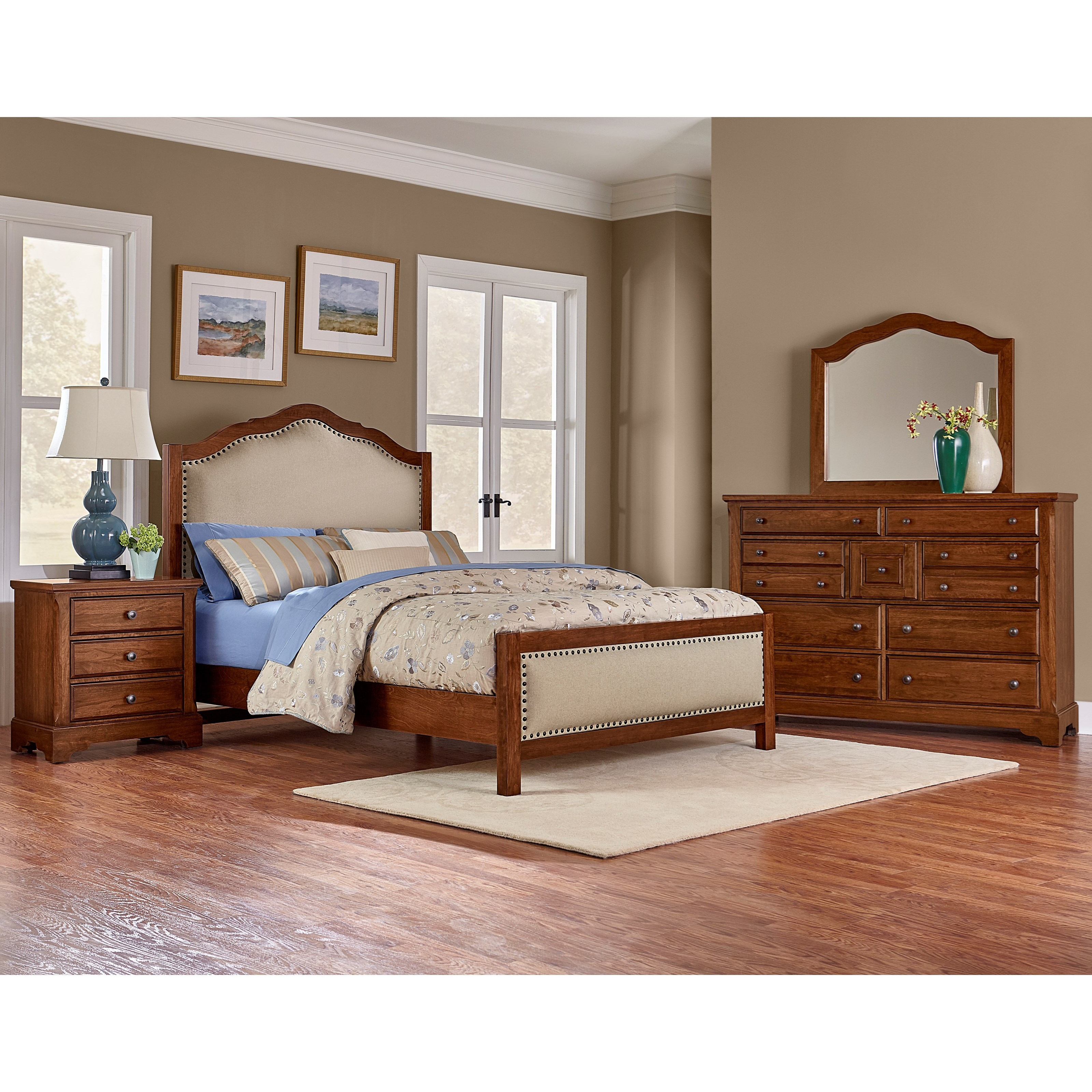 Artisan post artisan choices king bedroom group for Bedroom groups