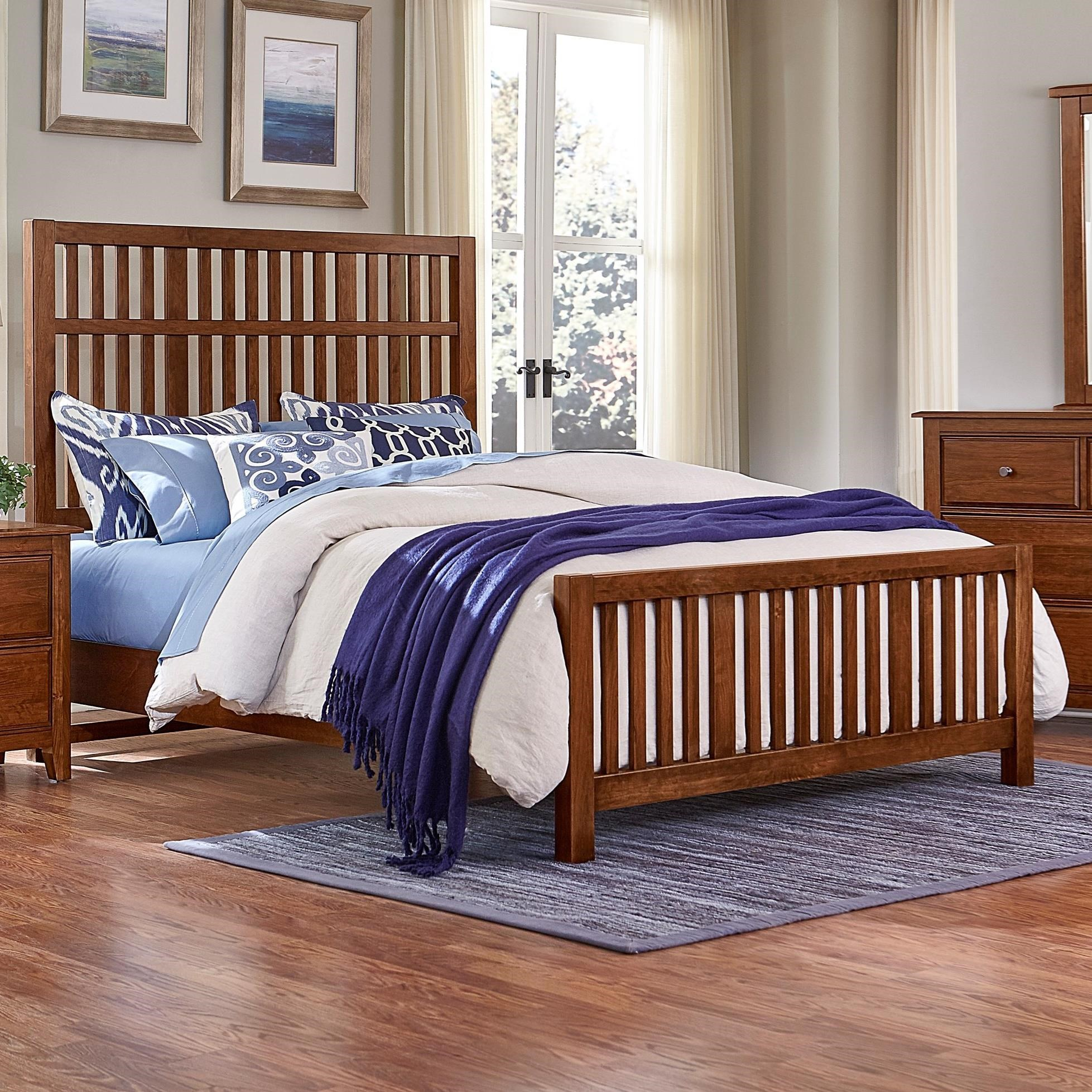 Artisan post by vaughan bassett artisan choices queen for Craftsman bed