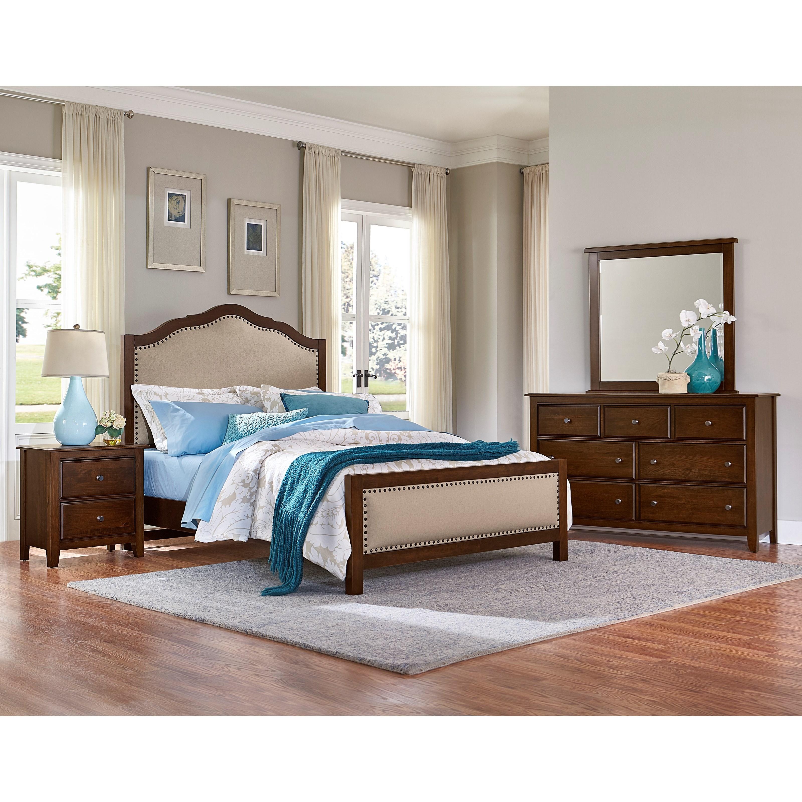 Artisan post artisan choices king bedroom group john v for Bedroom groups