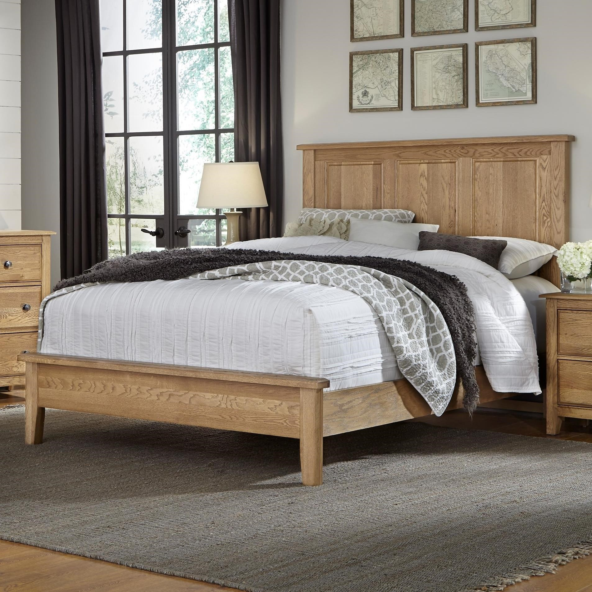 artisan post artisan choices king panel bed with low profile footboard hudson 39 s furniture. Black Bedroom Furniture Sets. Home Design Ideas