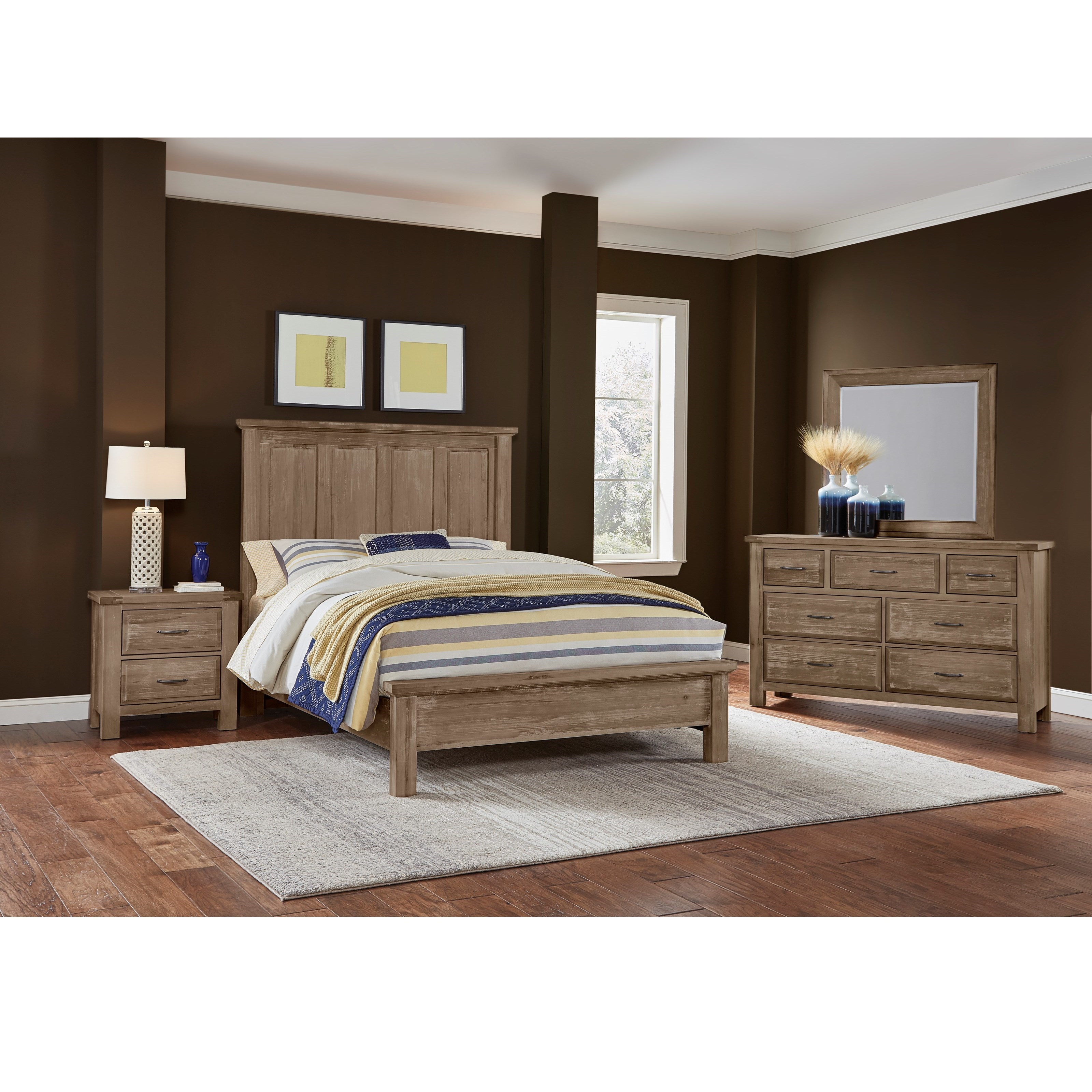 Artisan post by vaughan bassett maple road king bedroom for Bedroom groups