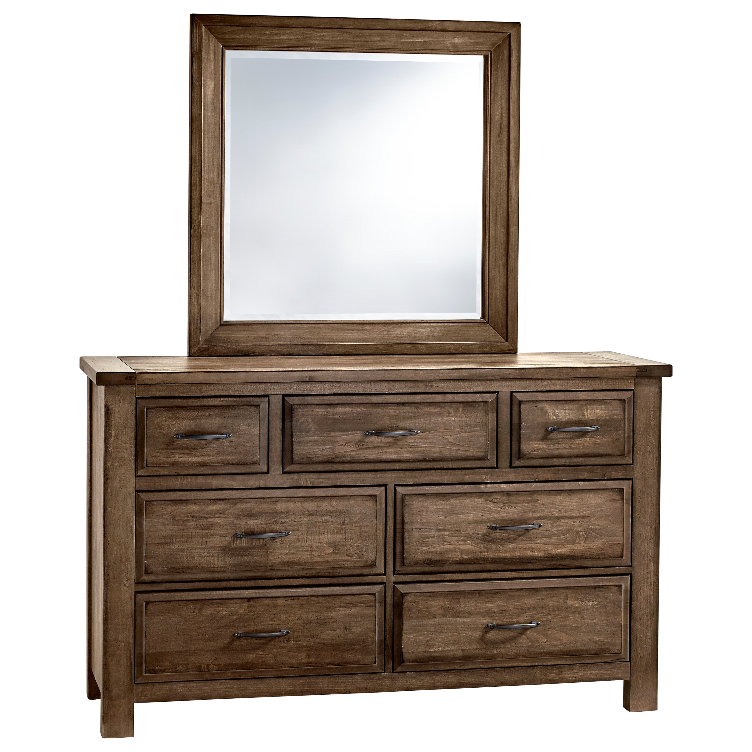 Artisan Post Maple Road Solid Wood Dresser Mirror Belfort Furniture Dresser Mirror Sets