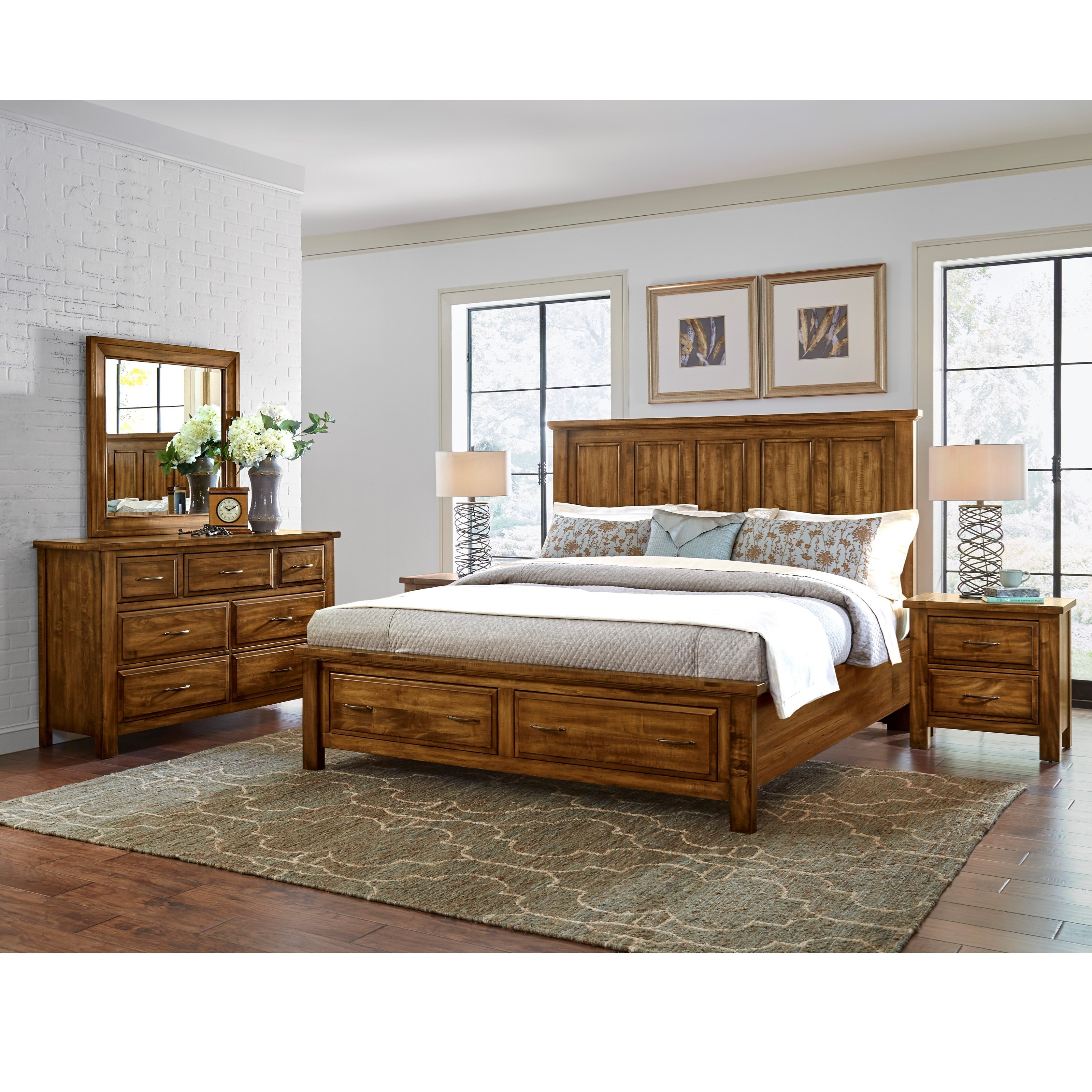 artisan post by vaughan bassett maple road queen bedroom group becker furniture world. Black Bedroom Furniture Sets. Home Design Ideas