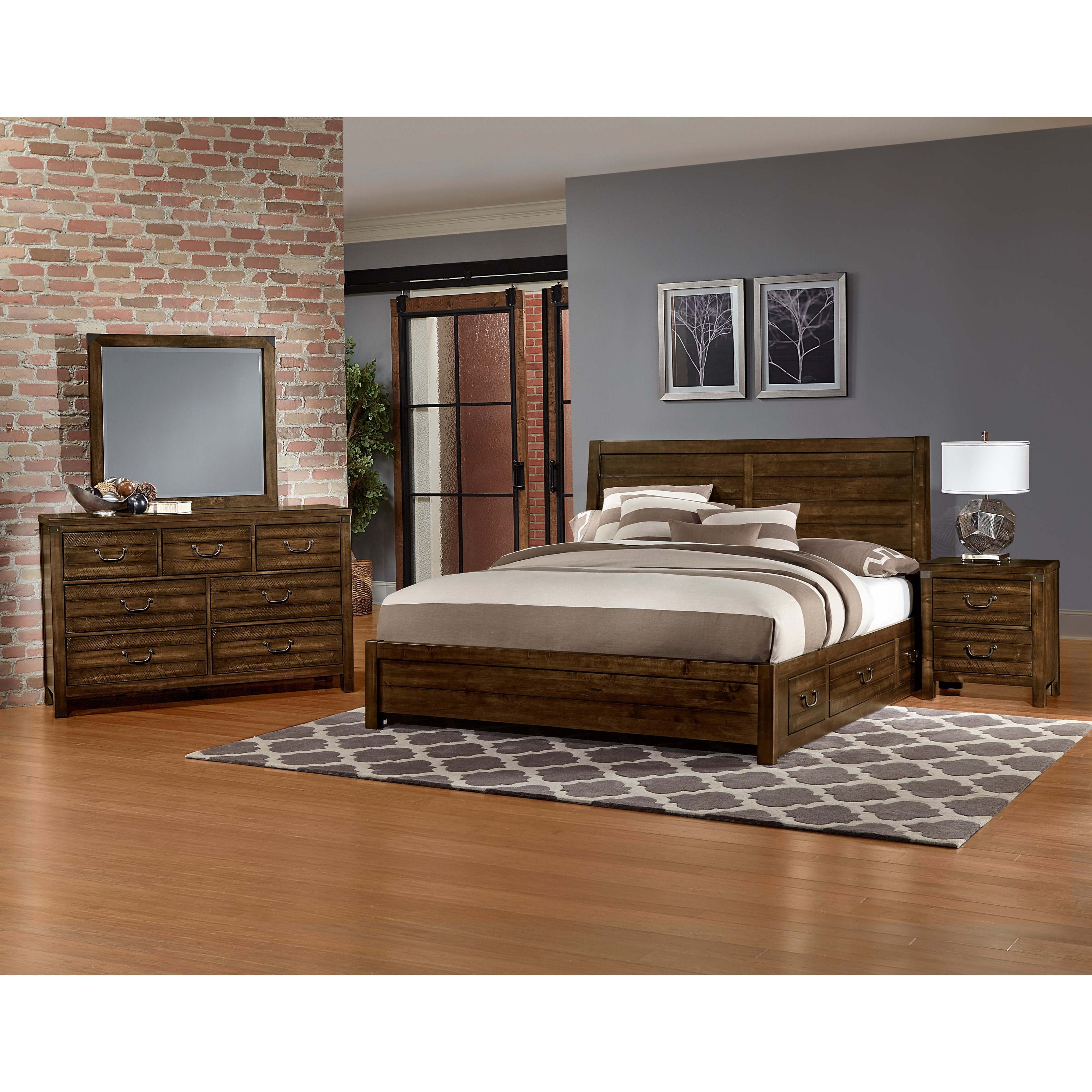 Artisan Post By Vaughan Bassett Sedgwick Queen Bedroom Group Becker Furniture World