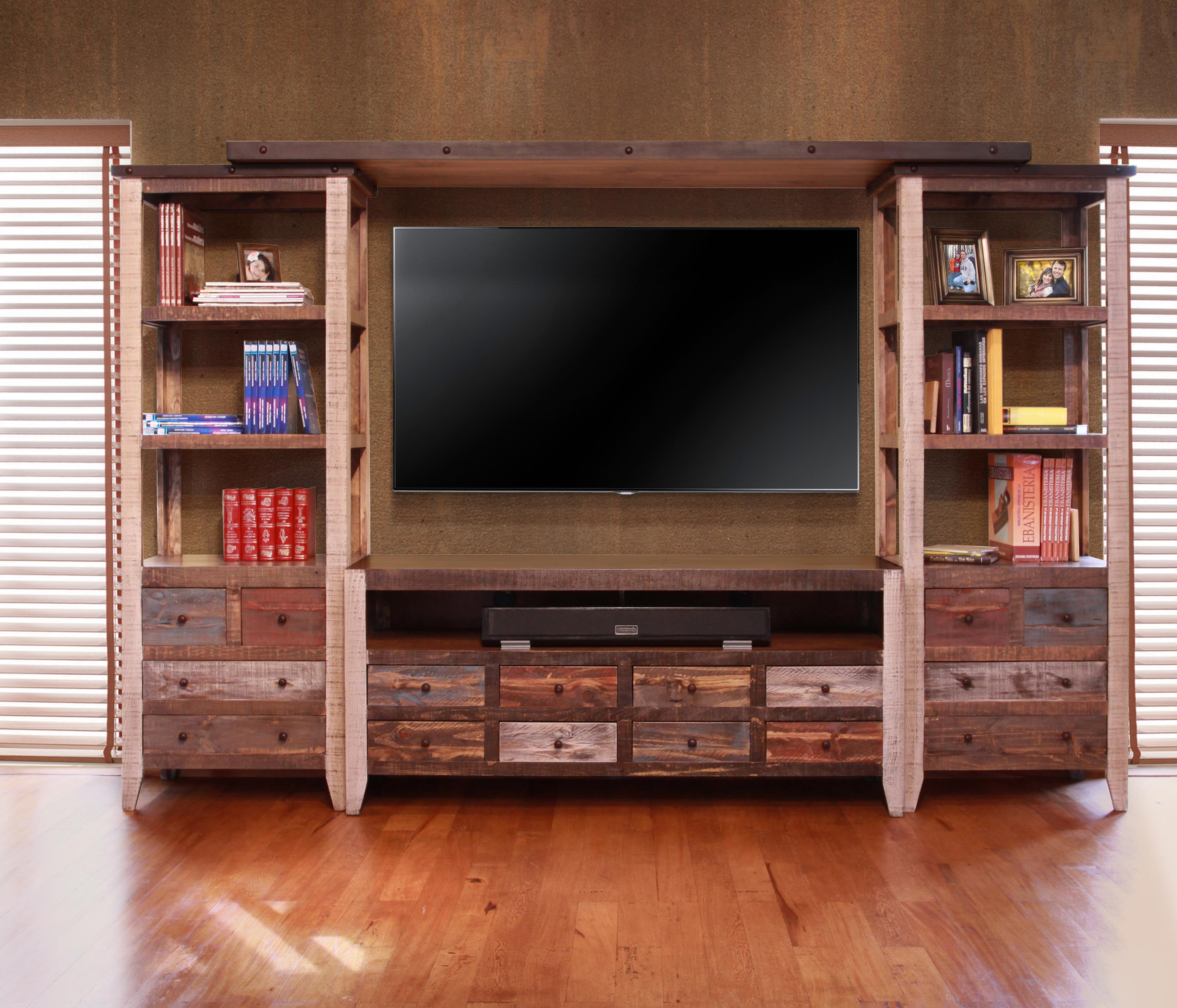 International Furniture Direct 900 Antique Wall Unit With