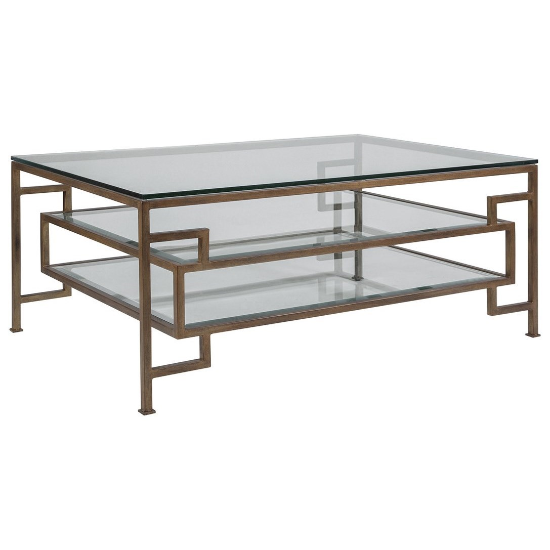 Artistica Metal Suspension Rectangular Cocktail Table by Artistica at Baer's Furniture