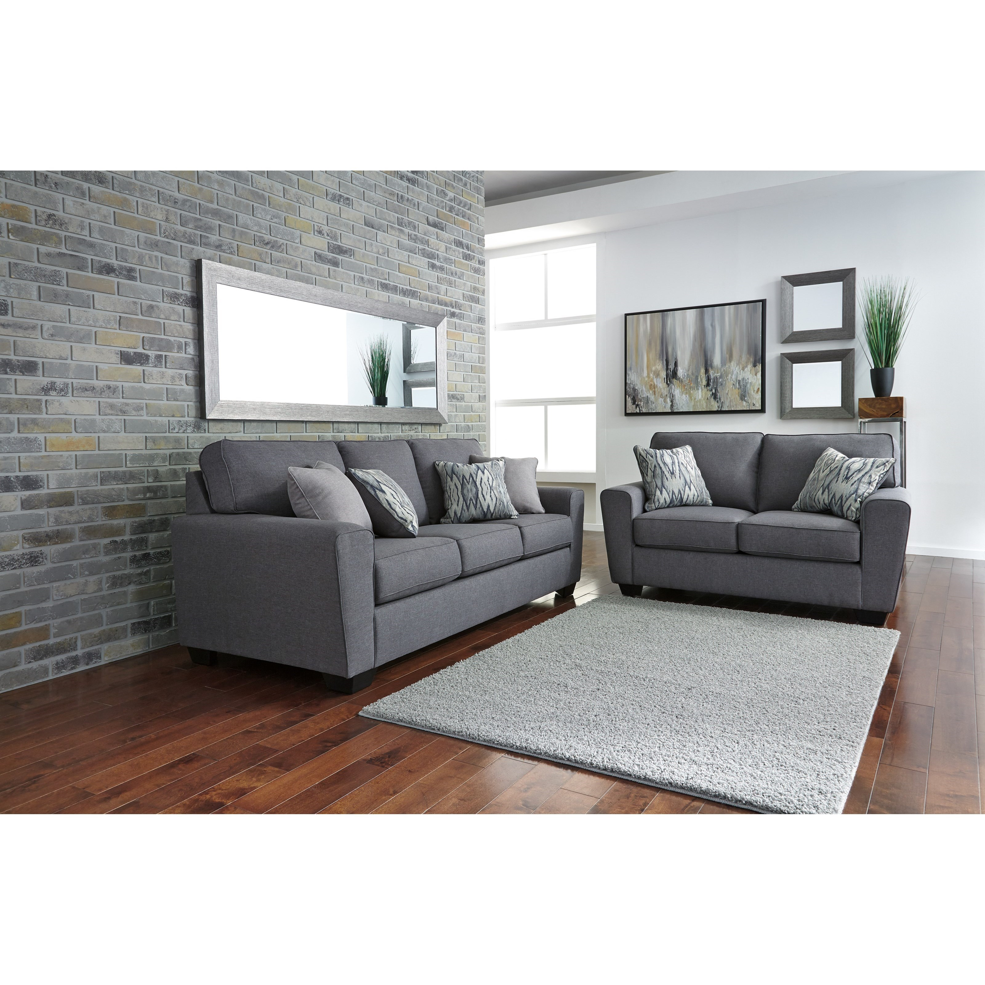 Ashley furniture calion stationary living room group for Living room furniture groups