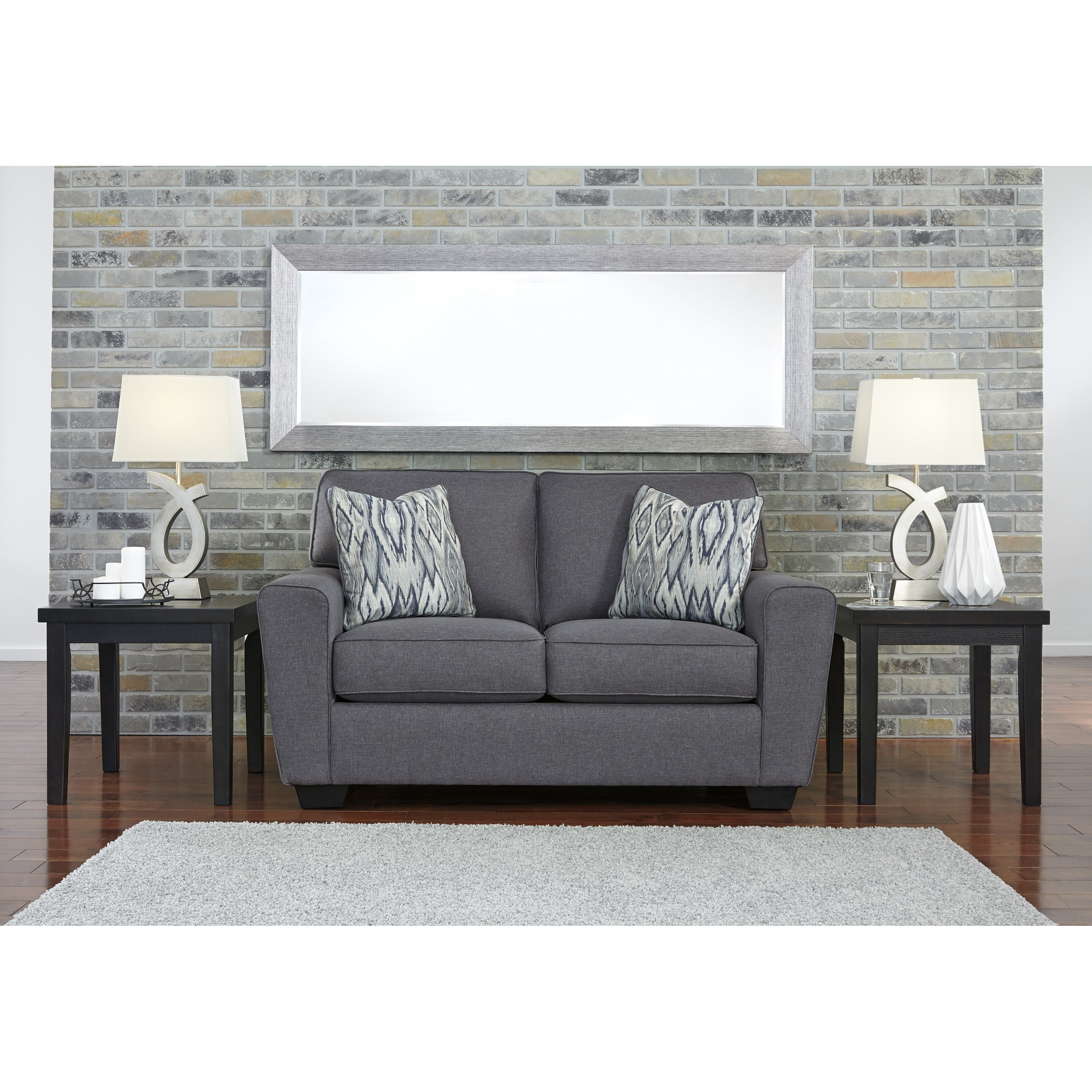Ashley furniture calion 2070235 contemporary loveseat for Ashley furniture appleton
