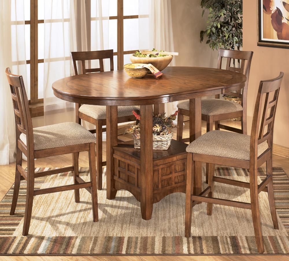 Counter Height Table Ashley Furniture : Ashley Furniture Cross Island 5-Piece Counter Height Ext Table Dining ...