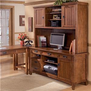 Ashley Furniture Cross Island 42 Inch Oak Tv Stand With Mission Style Hardware Efo Furniture