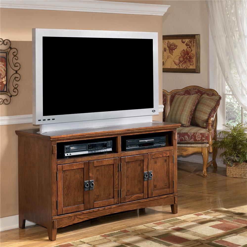 Ashley Furniture Cross Island 50 Inch Oak Tv Stand With