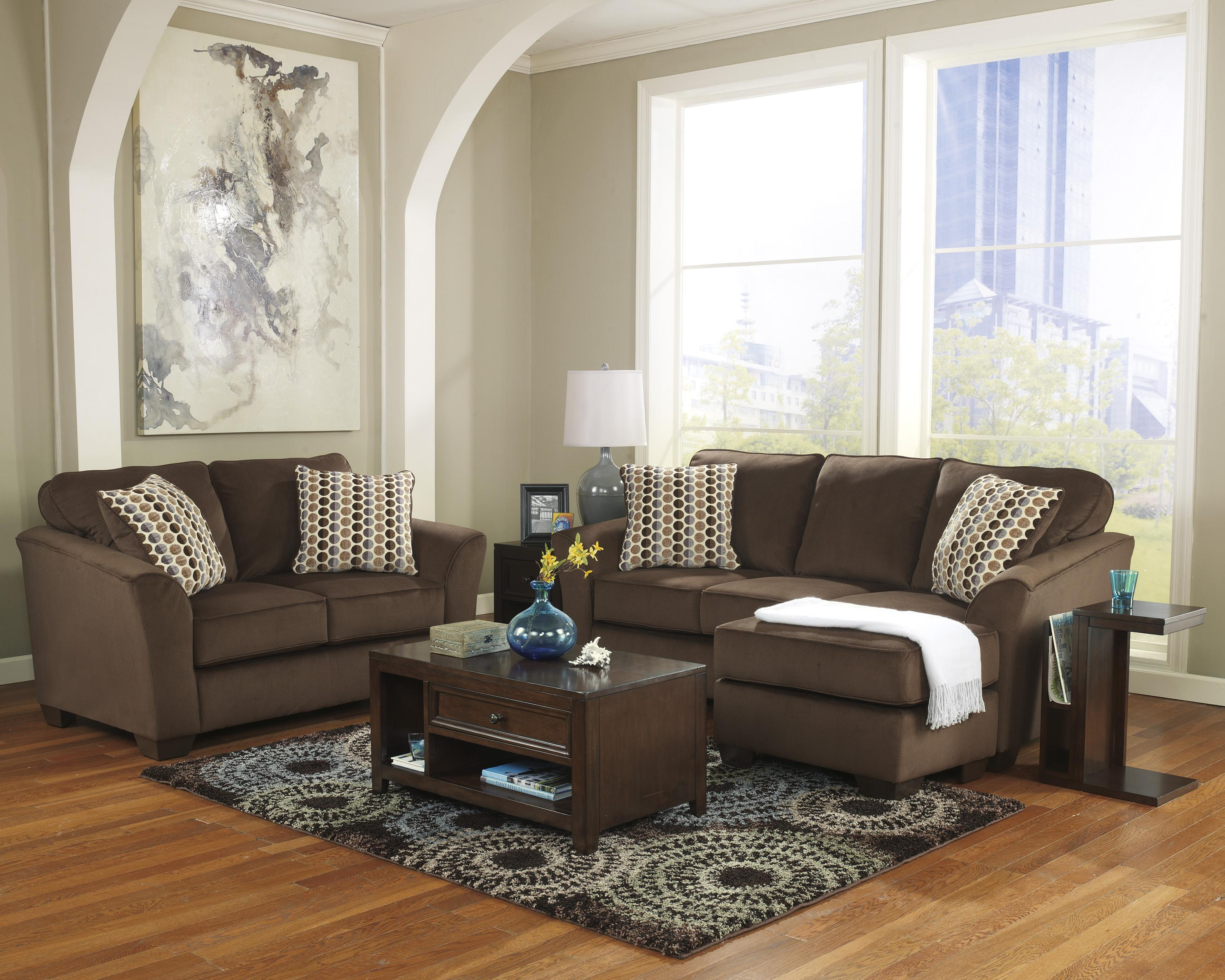 Ashley furniture geordie cafe 2350018 contemporary sofa for Divan vs chaise
