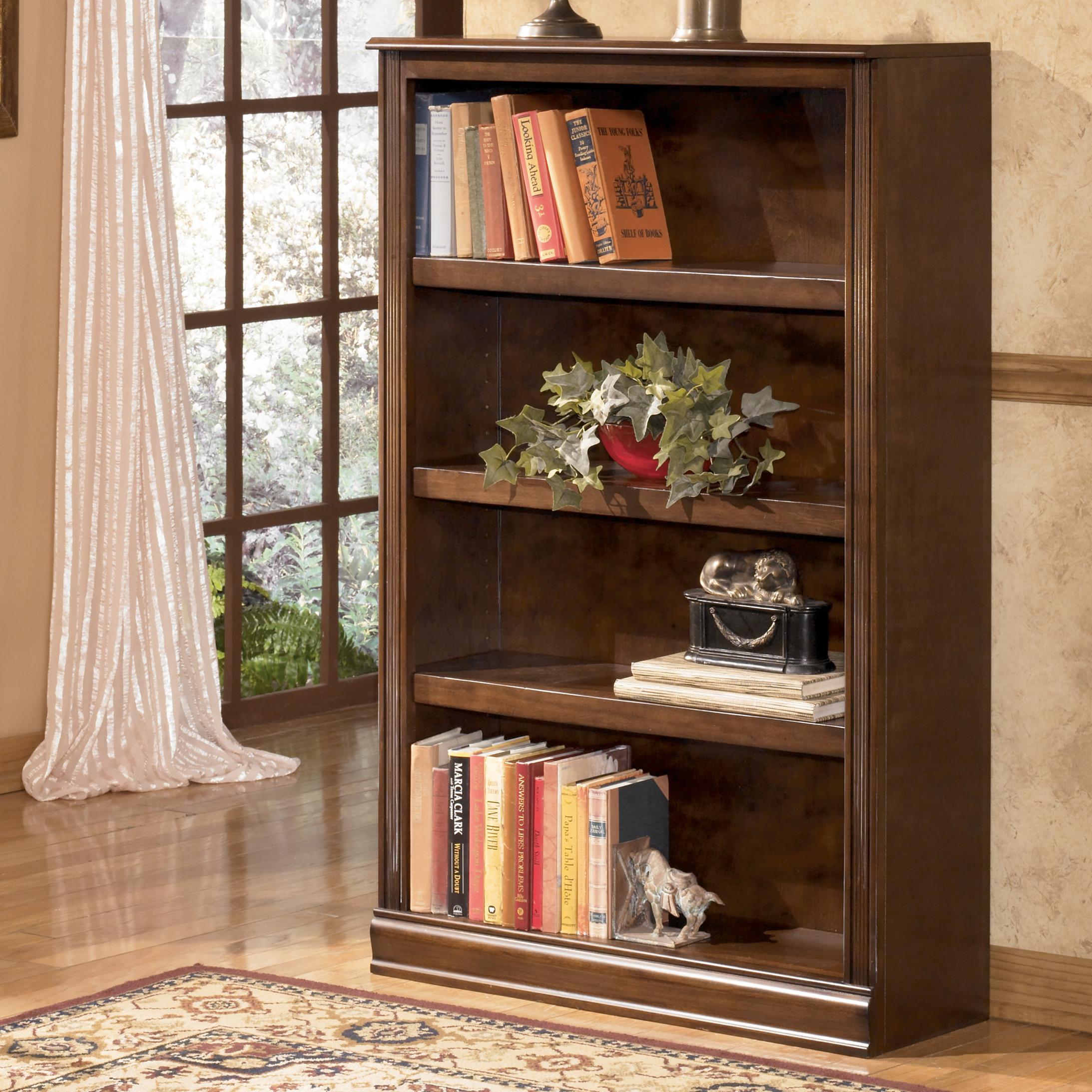 Signature design by ashley hamlyn medium bookcase ivan for Ivan smith furniture