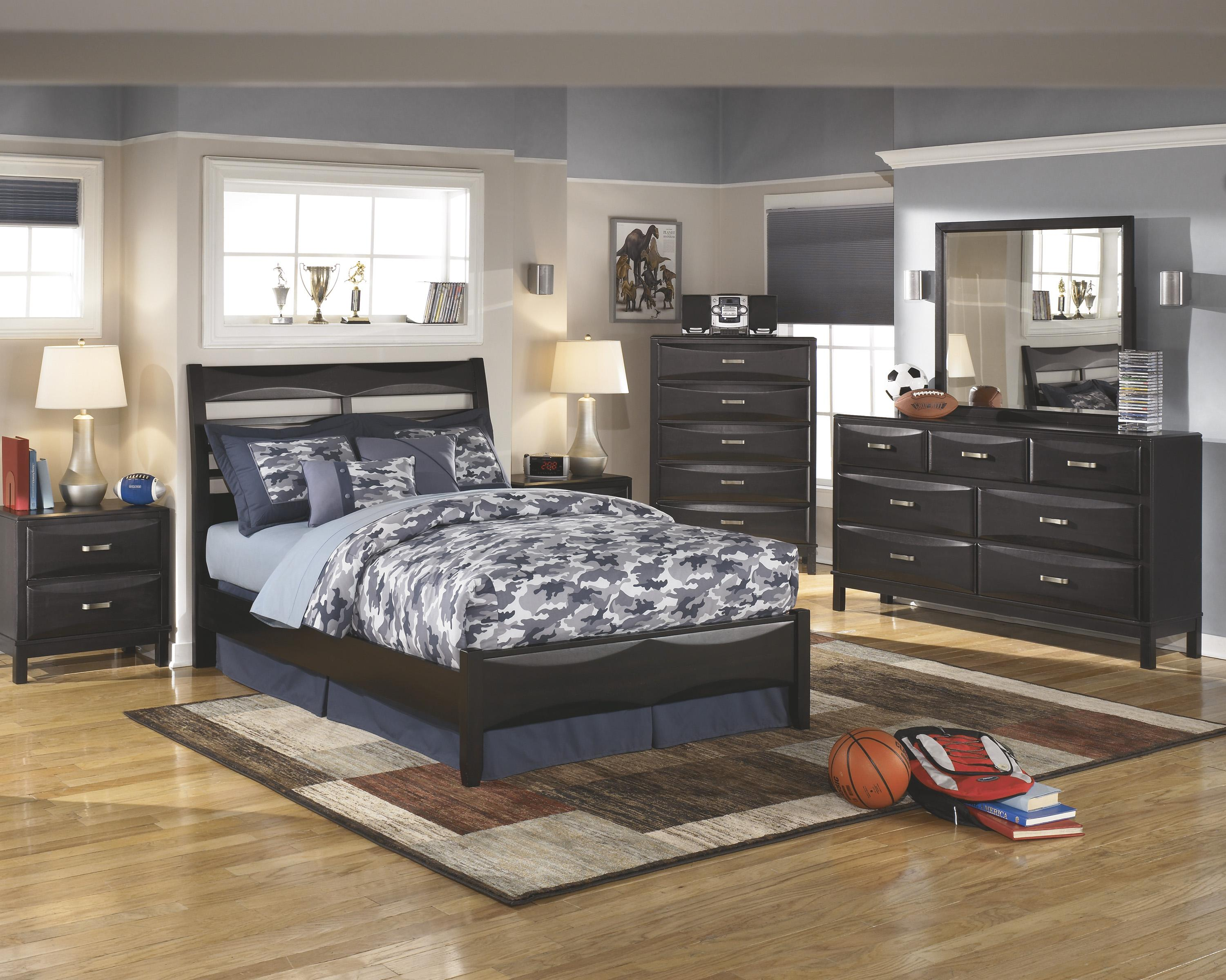 Ashley furniture kira full bedroom group olinde 39 s for Bedroom furniture groups