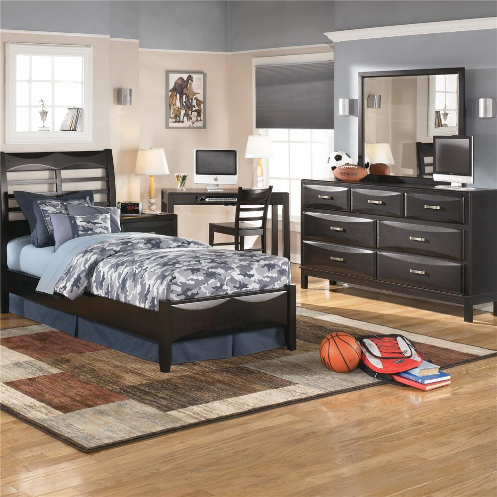 Ashley Furniture Kira 7 Drawer Dresser and Mirror bo