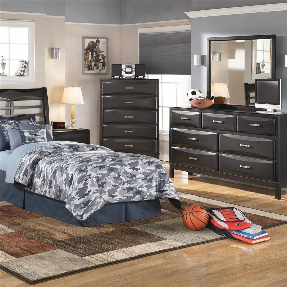 ashley furniture kira 7 drawer dresser and mirror combo