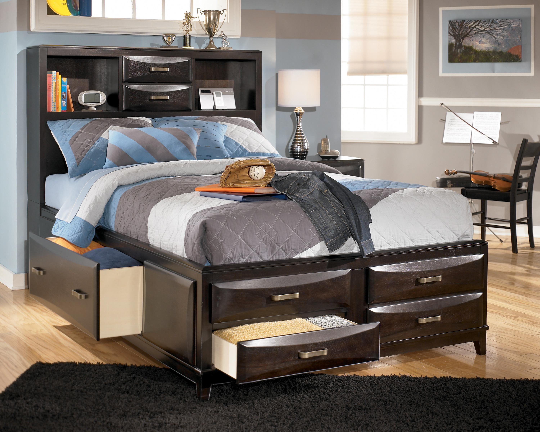 Ashley Furniture Kira Full Storage Bed Olinde 39 S Furniture Captain 39 S Beds