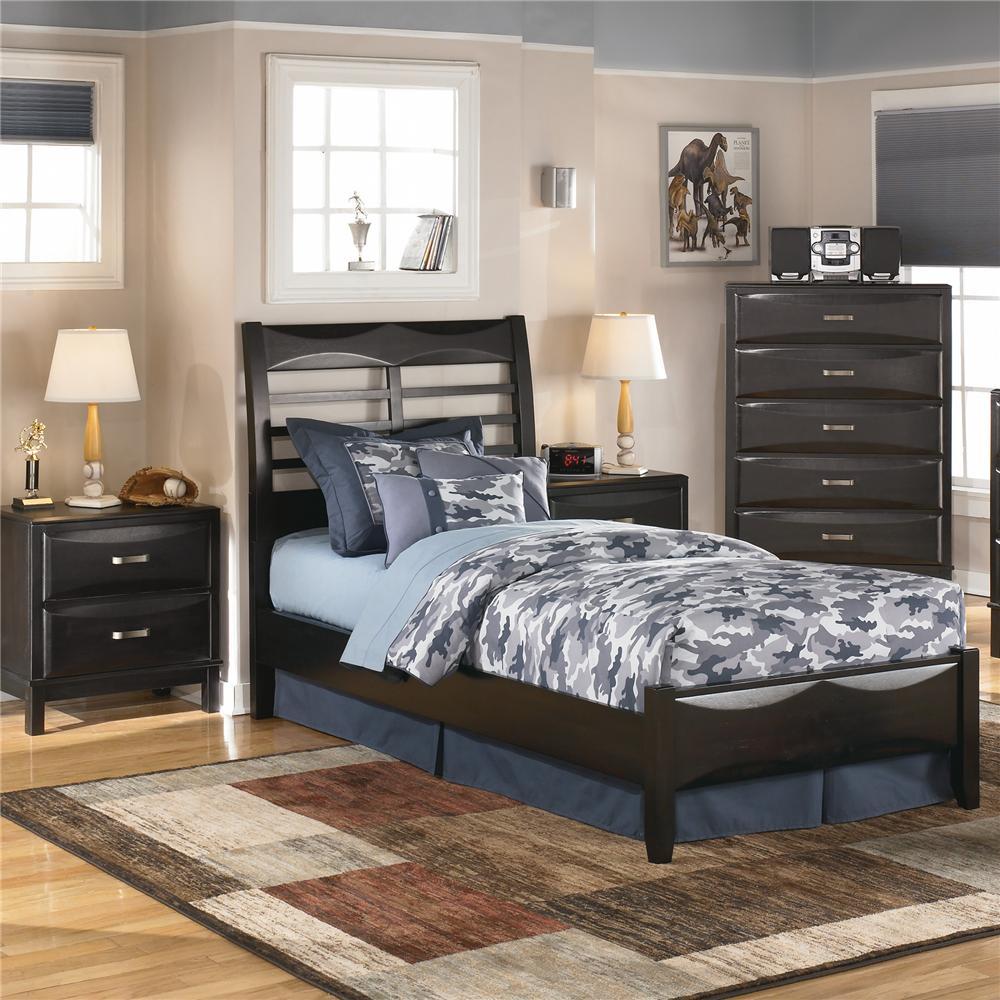Ashley furniture kira b473 92 2 drawer night stand for Ashley furniture appleton
